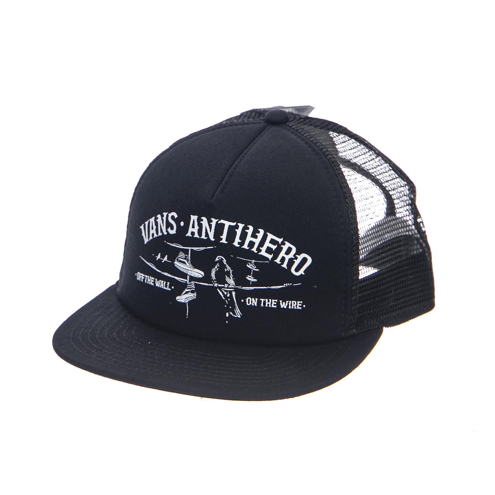 58f0272f6bb08 Vans Mn Vans X Antihero Wired Trucker - Black - Cappellino Con Visier Nero