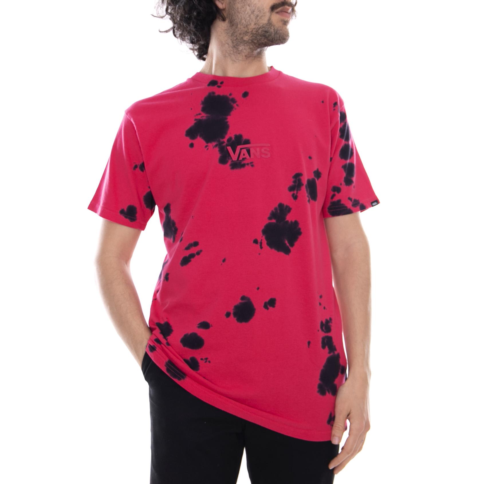 b945abb157194b Vans Mn Spot Dye Jazzy Black - T-shirt Crew-neck Man Fuchsia