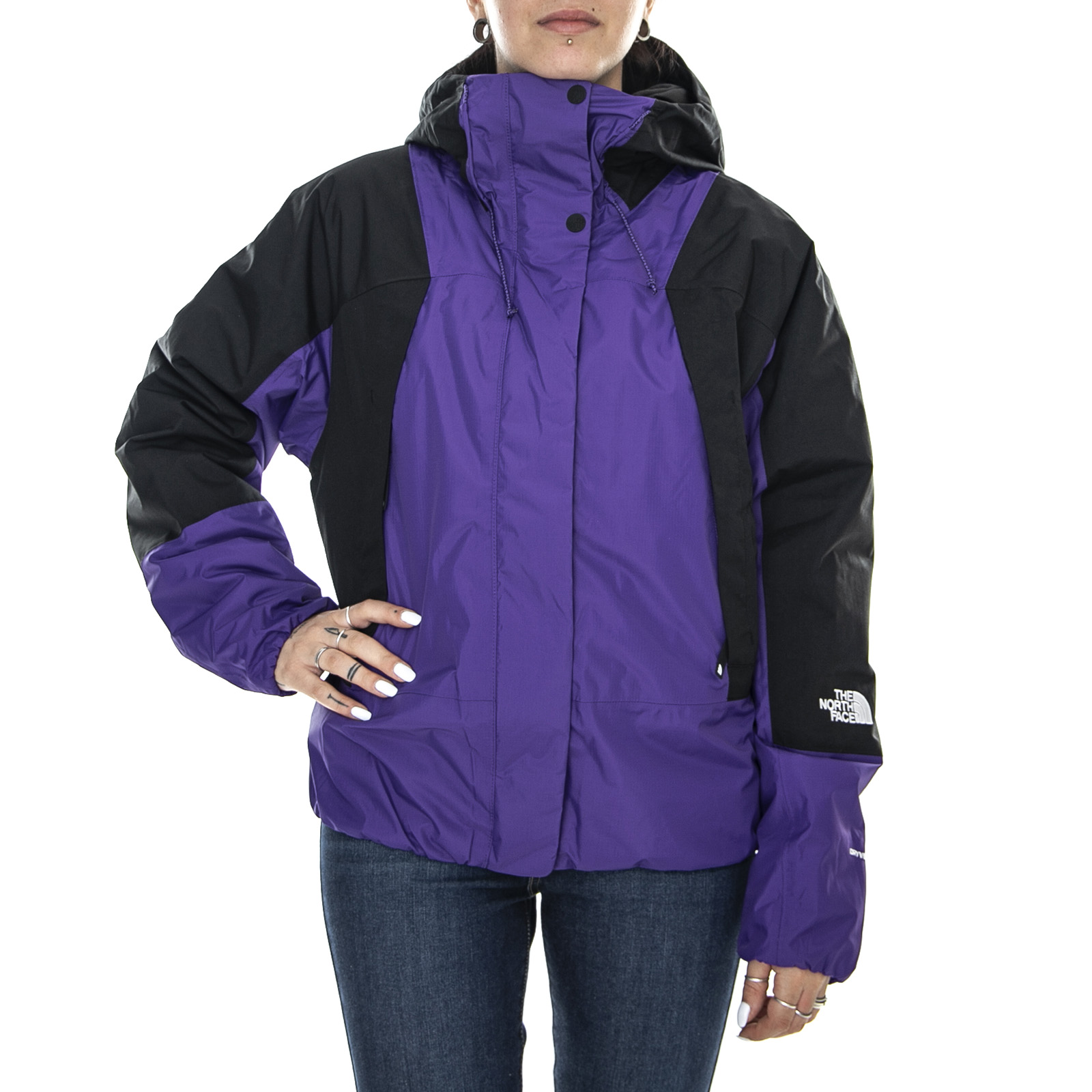 Dettagli su The North Face Wm Mountain Light Dreyvent VioletBlack Giacca Leggera Donna