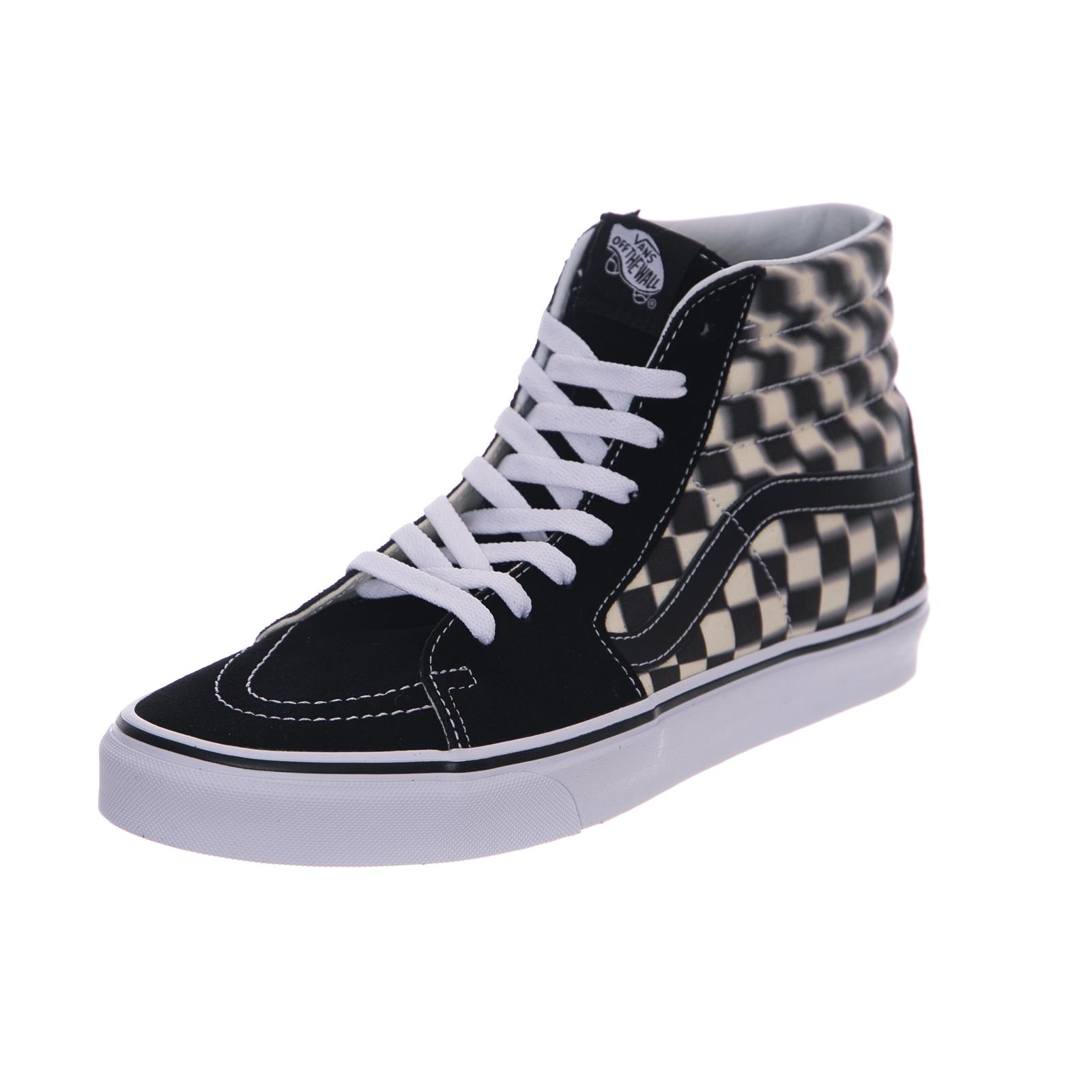 Vans Sneakers Ua sk8 hi Blur Check BlackClassic White Black | eBay