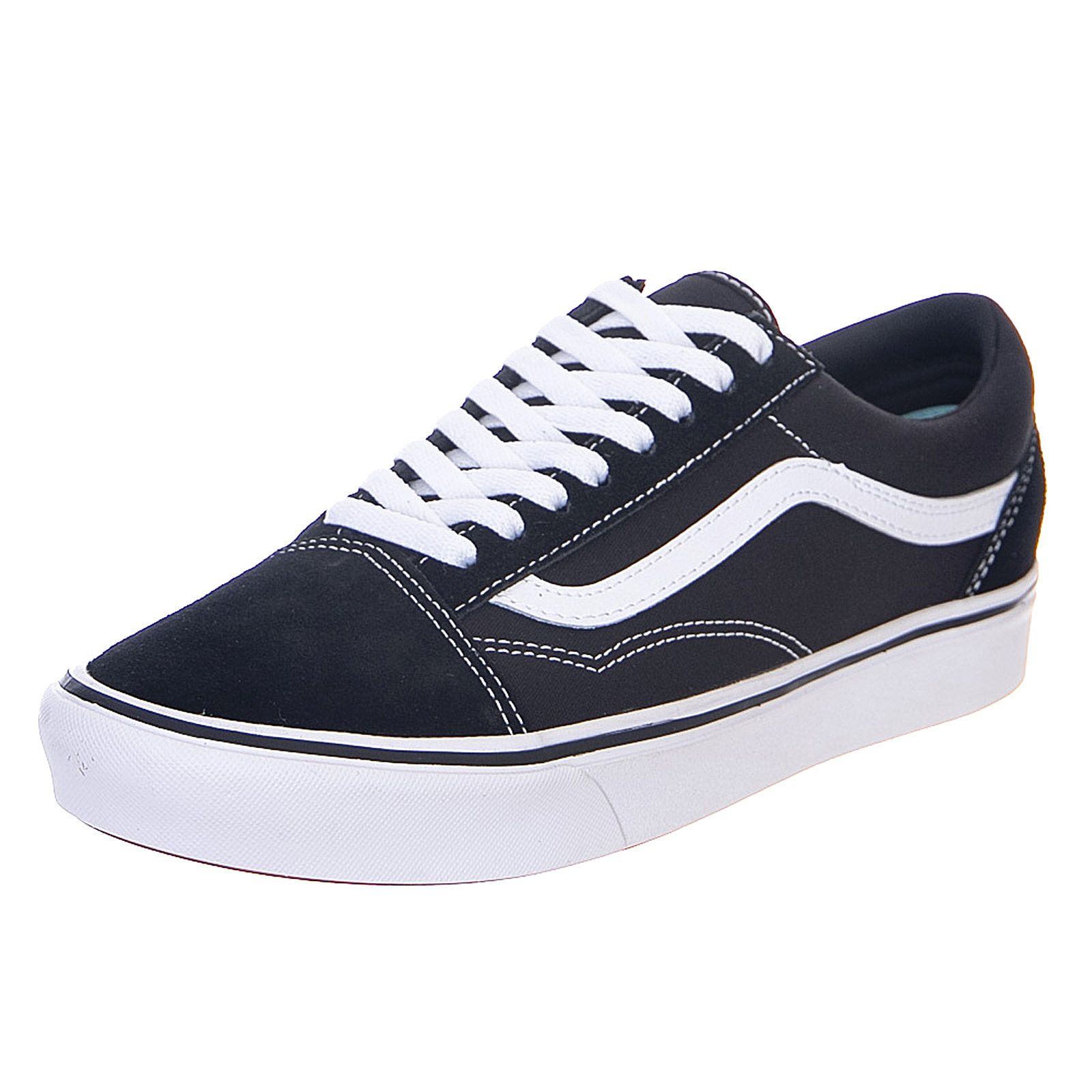 Détails sur Vans Comfy Cush Old Skool BlackTrue White Sneakers Stringate Uomo Nero