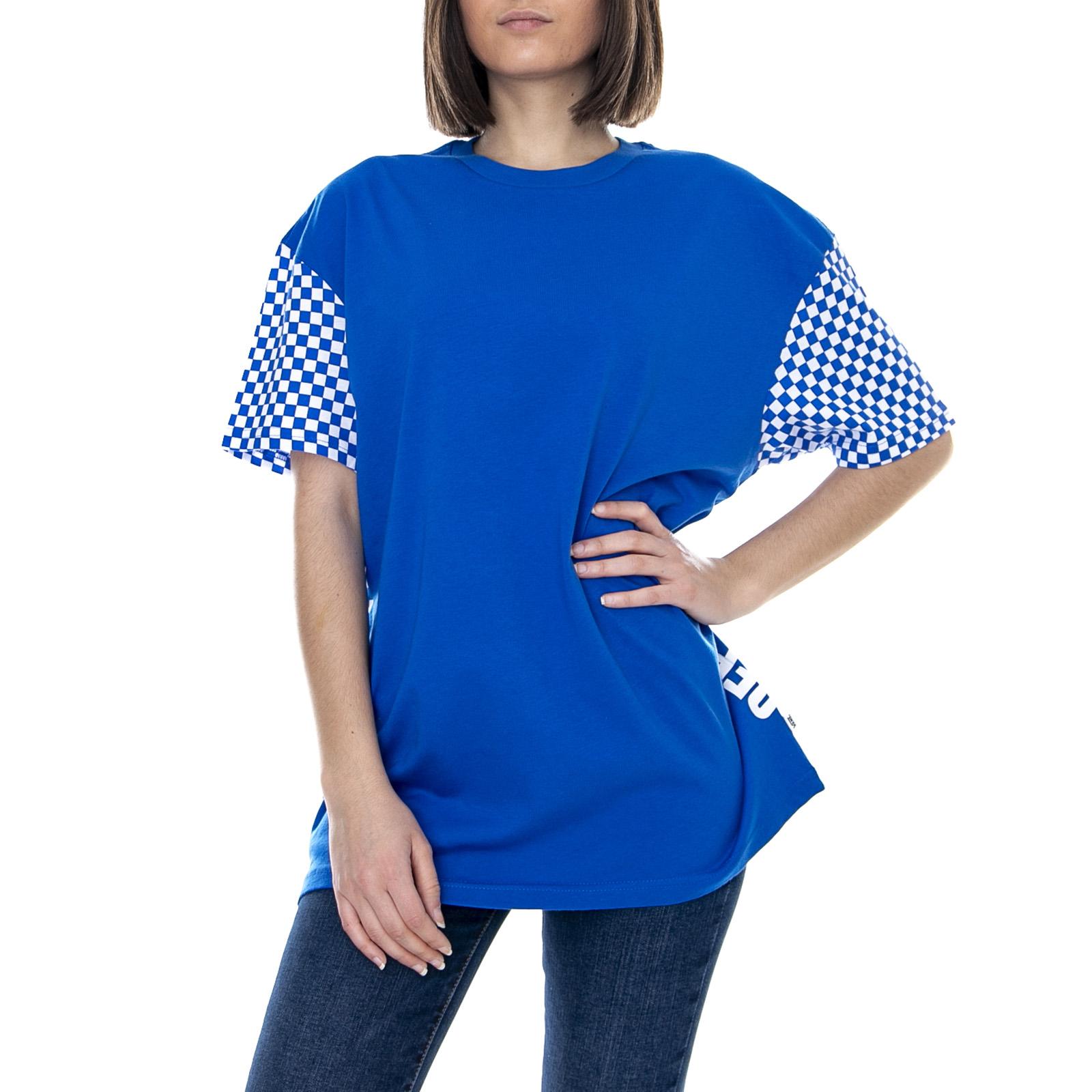 Dettagli su Vans Wm Emea Central Lapis Blu Maglietta Girocollo Donna Blue