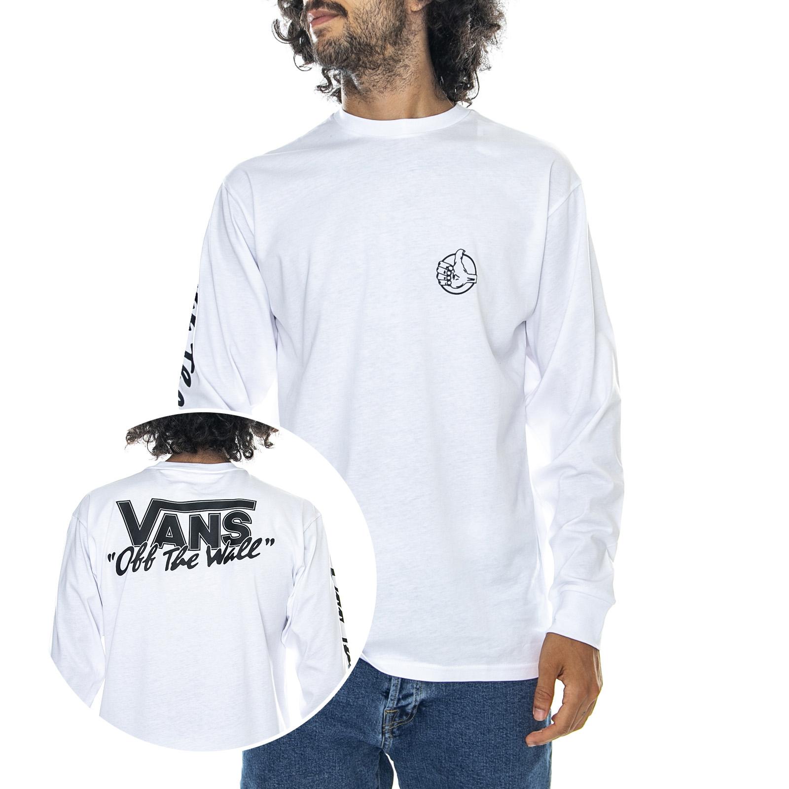 Dettagli su Vans Mn Bmx Off The Wall White Maglietta Maniche Lunghe Uomo Bianco