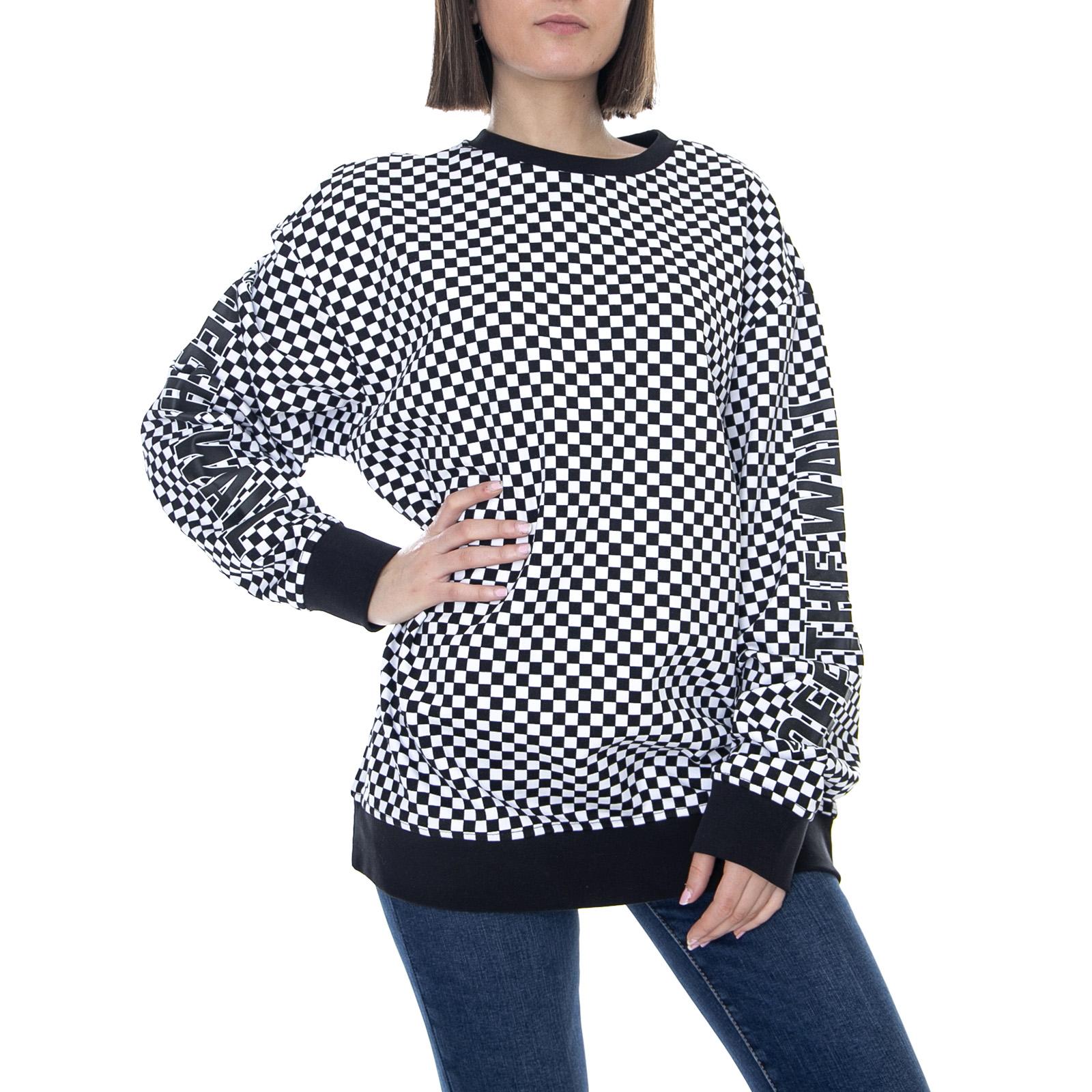 Women Details About Wm Central Black Necked Sweatshirt Vans Crew Emea Round 7gf6yb