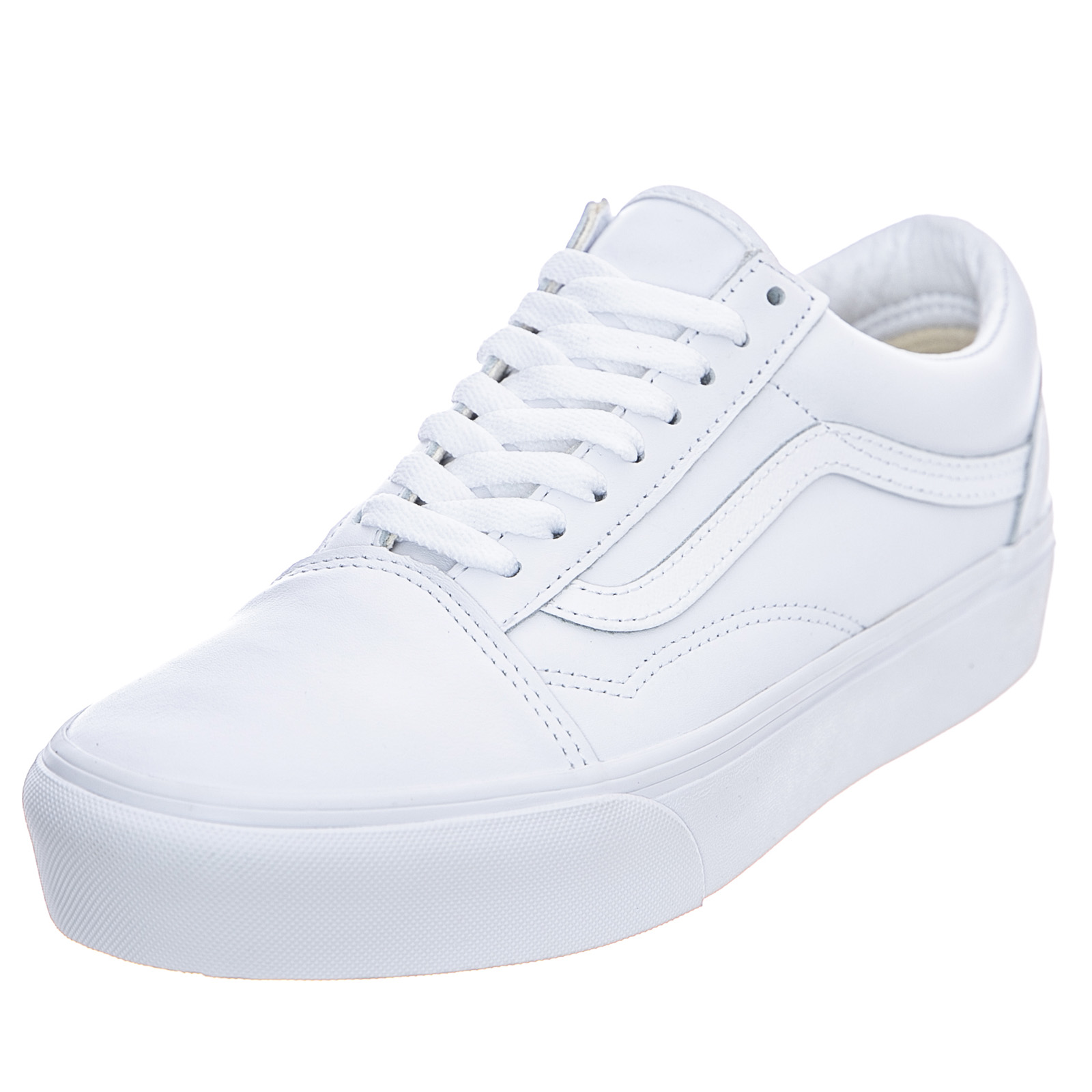Dettagli su Vans Ua Old Skool Platform White Sneakers Basse UomoDonna Bianco
