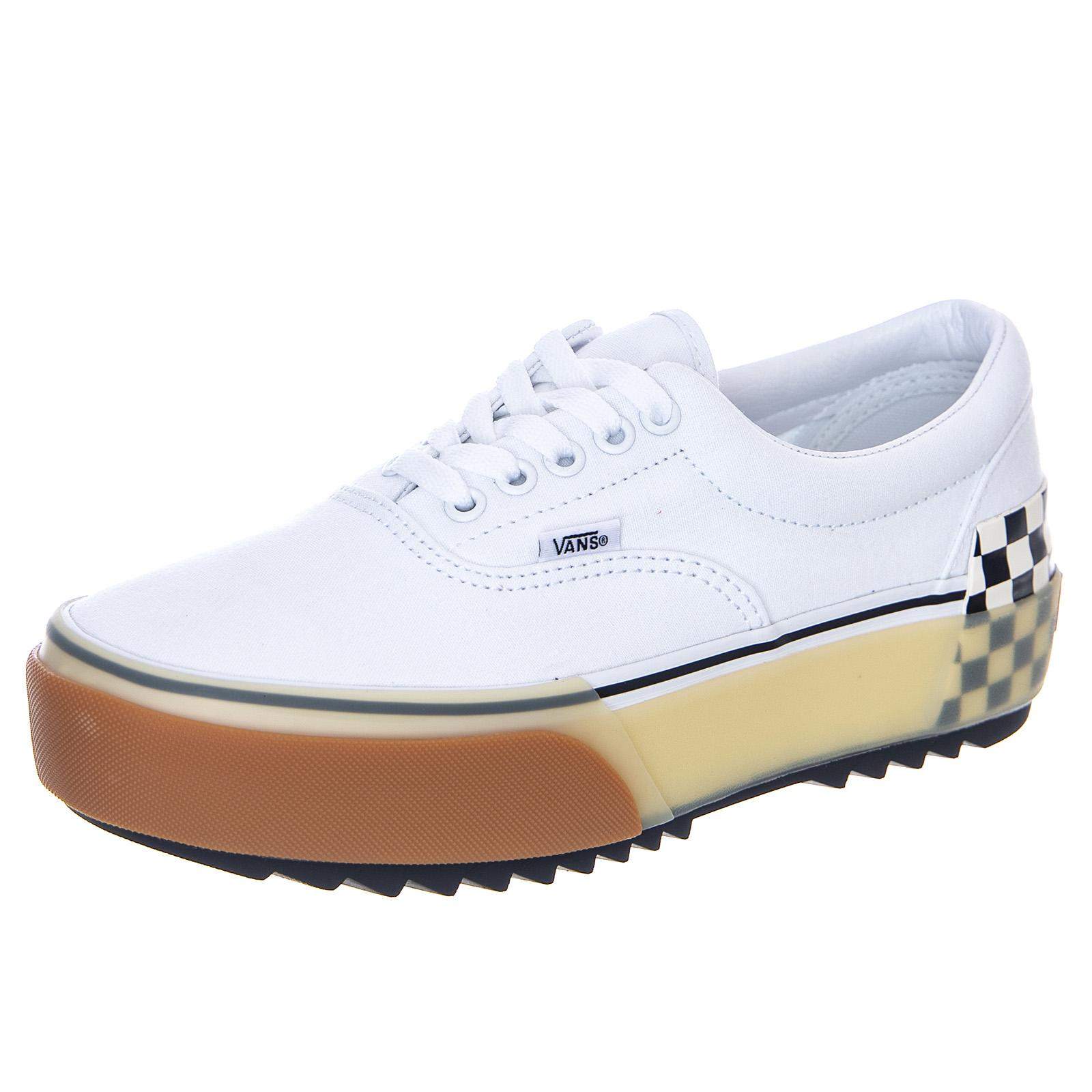 Détails sur Vans Ua Era Stacked - Blanc/Damier - Sneakers Bas Homme Blanc