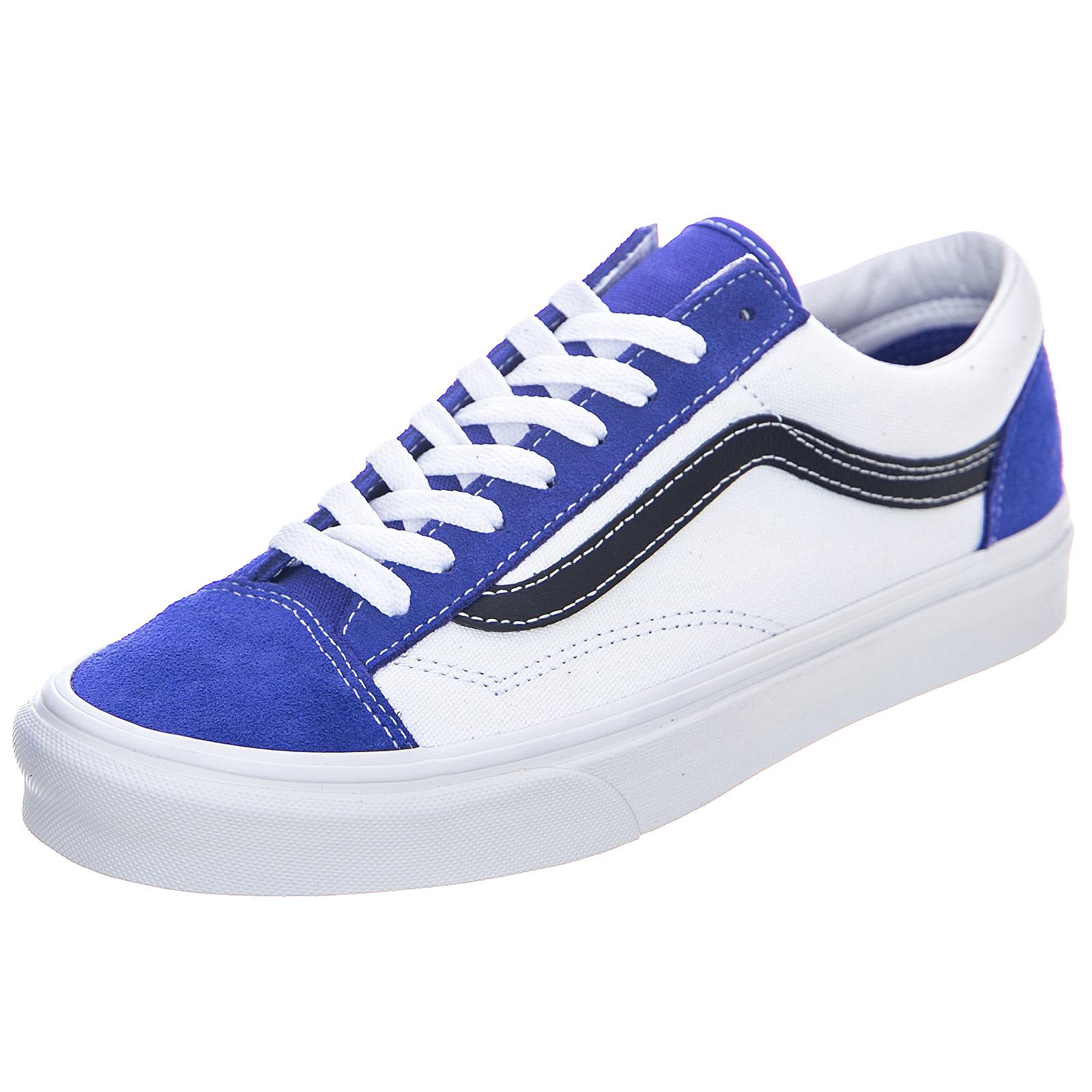 Detalles de Vans Mn Retro Deporte Estilo 36 Real Azul Verdadero Blanco Zapatos Suela