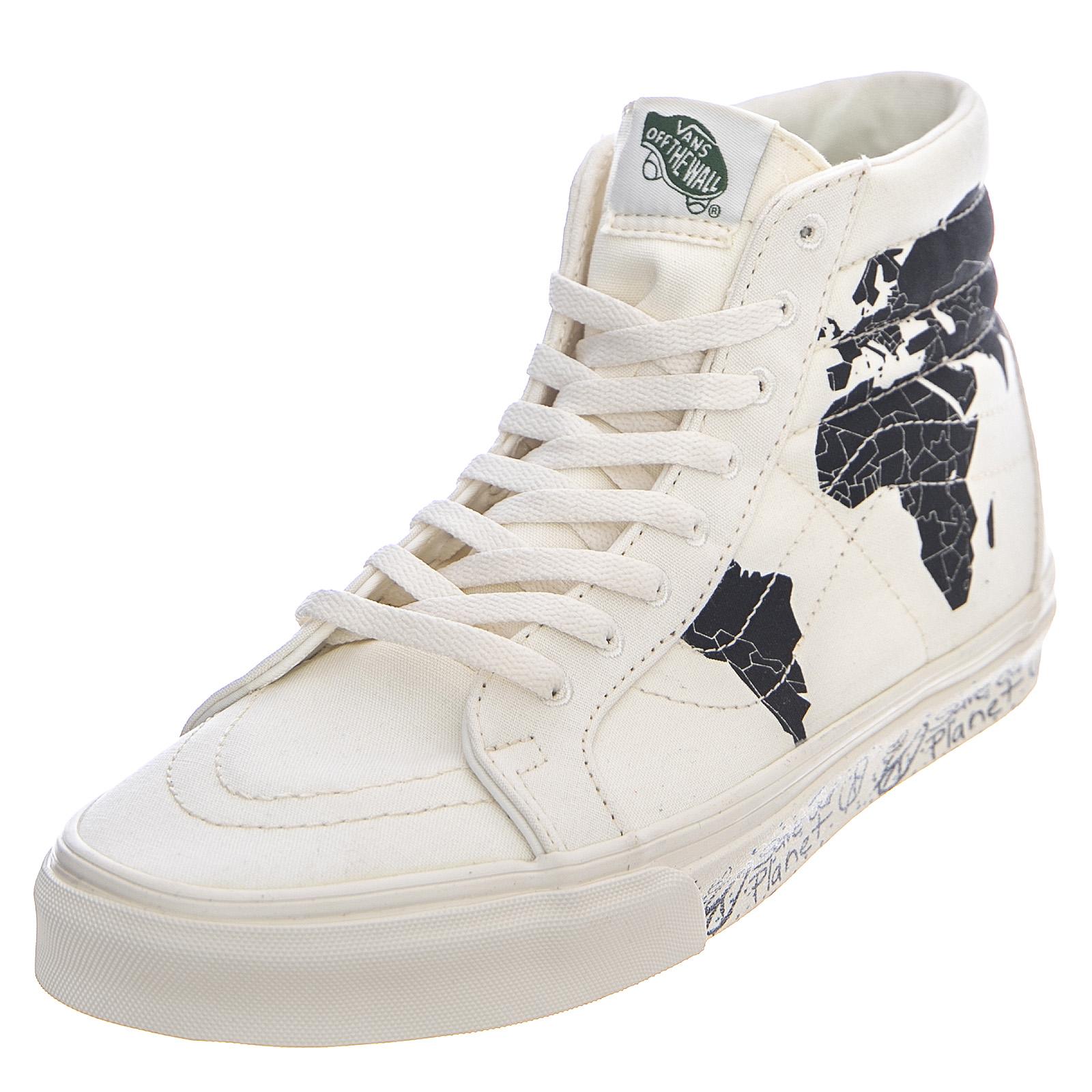 Dettagli su Vans ua sk8 hi reissue save our planet classic white black sneakers alte