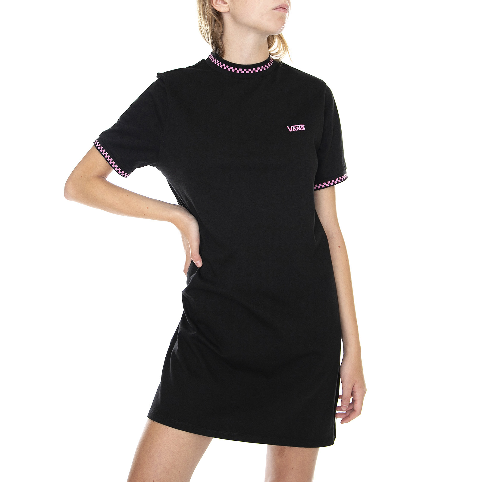 Vans all stakes dress - black - abito donna nero   eBay