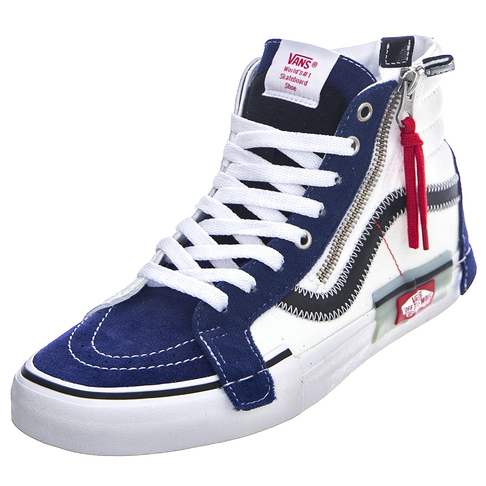 Details about Vans sk8 hi reissue cap blueprint bit of blue shoes high man multicolour