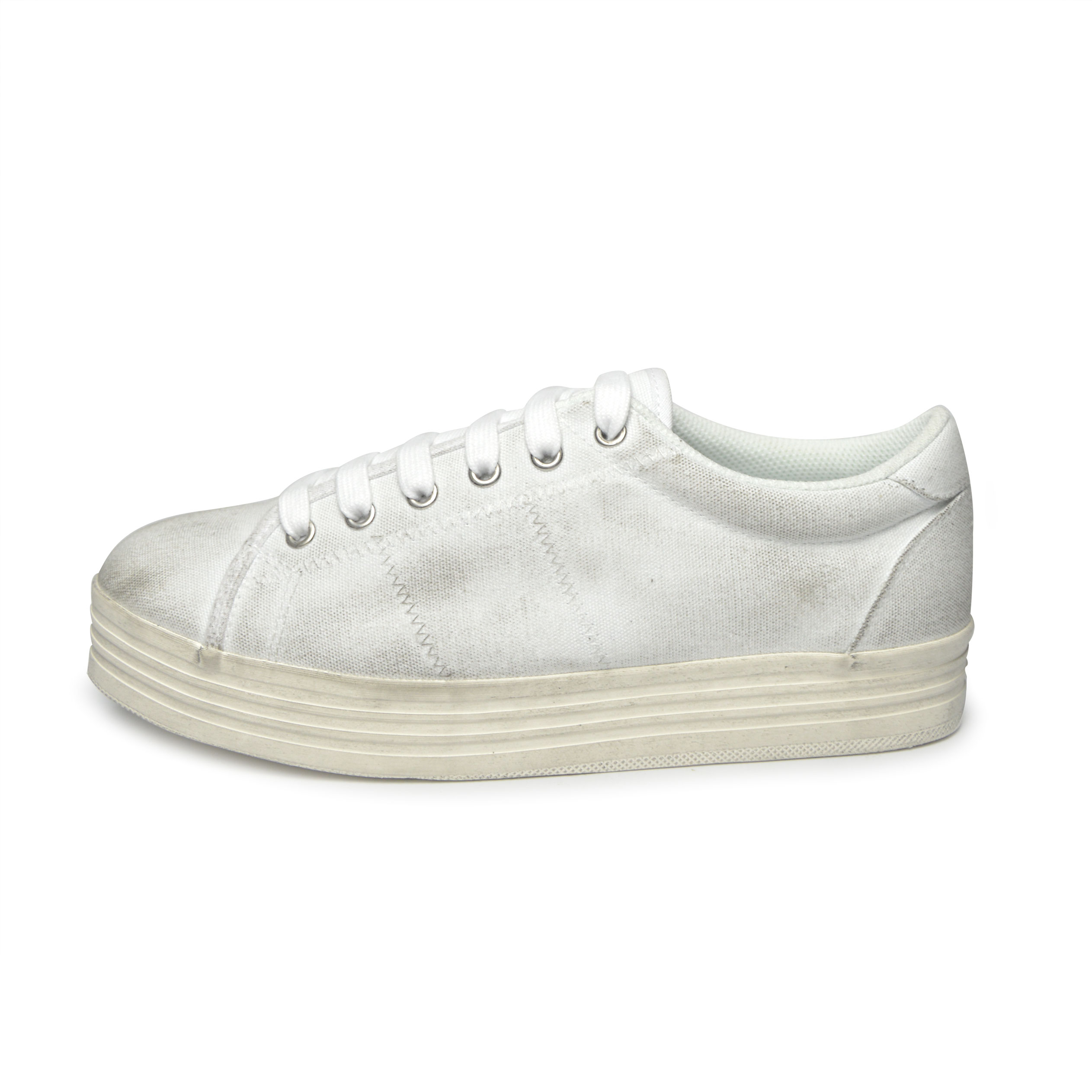 47a11962ea4 JEFFREY CAMPBELL SNEAKERS UOMO ZOMG CANVAS WASH - WHITE W