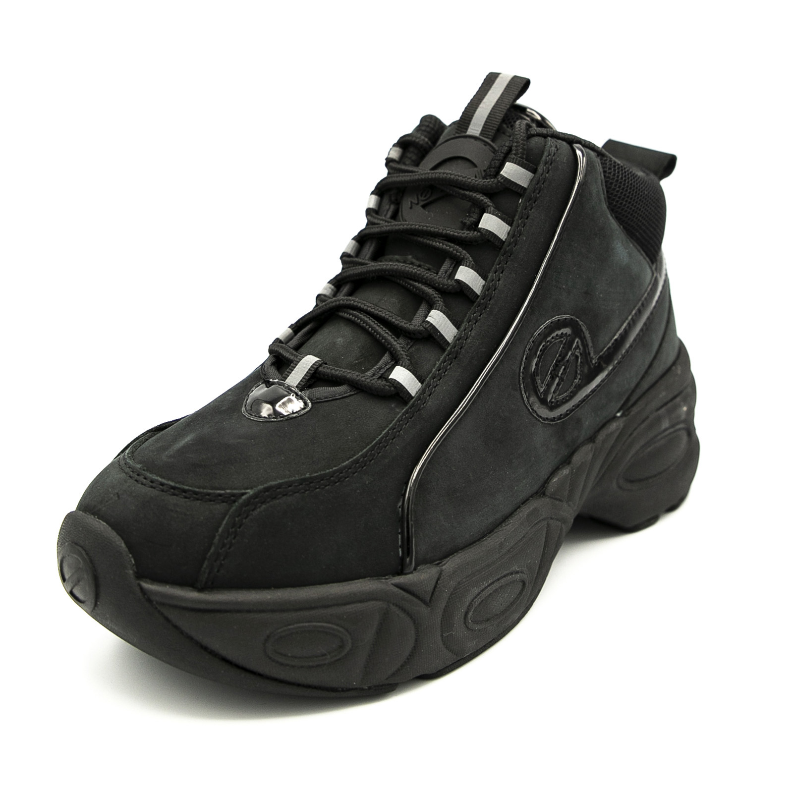 No Name Nitro Mid Black Sneakers Alte Donna Nero