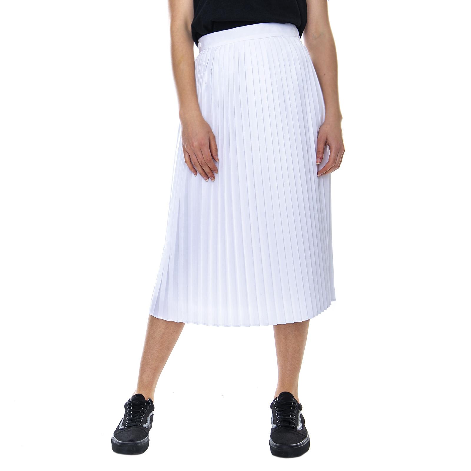 23707a5f374509 Plissé Skirt Weiß - Gonna Bianco - Lacoste ncfpvt4827-neue Kleidung ...