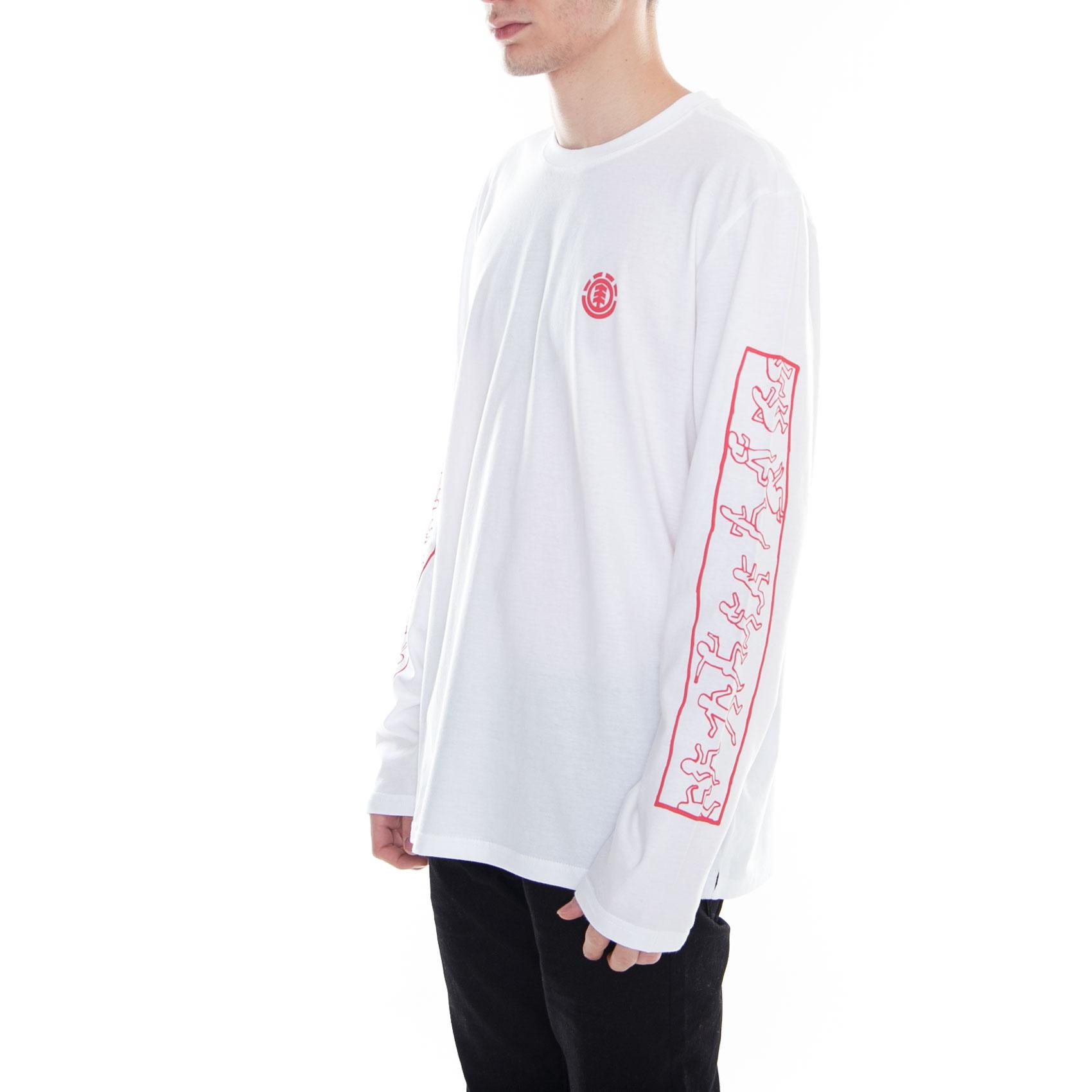 ab2642cc18b7 Element T-Shirt Keith Haring Jump Ls Tee Optic White Bianco 2 2 di 3 ...