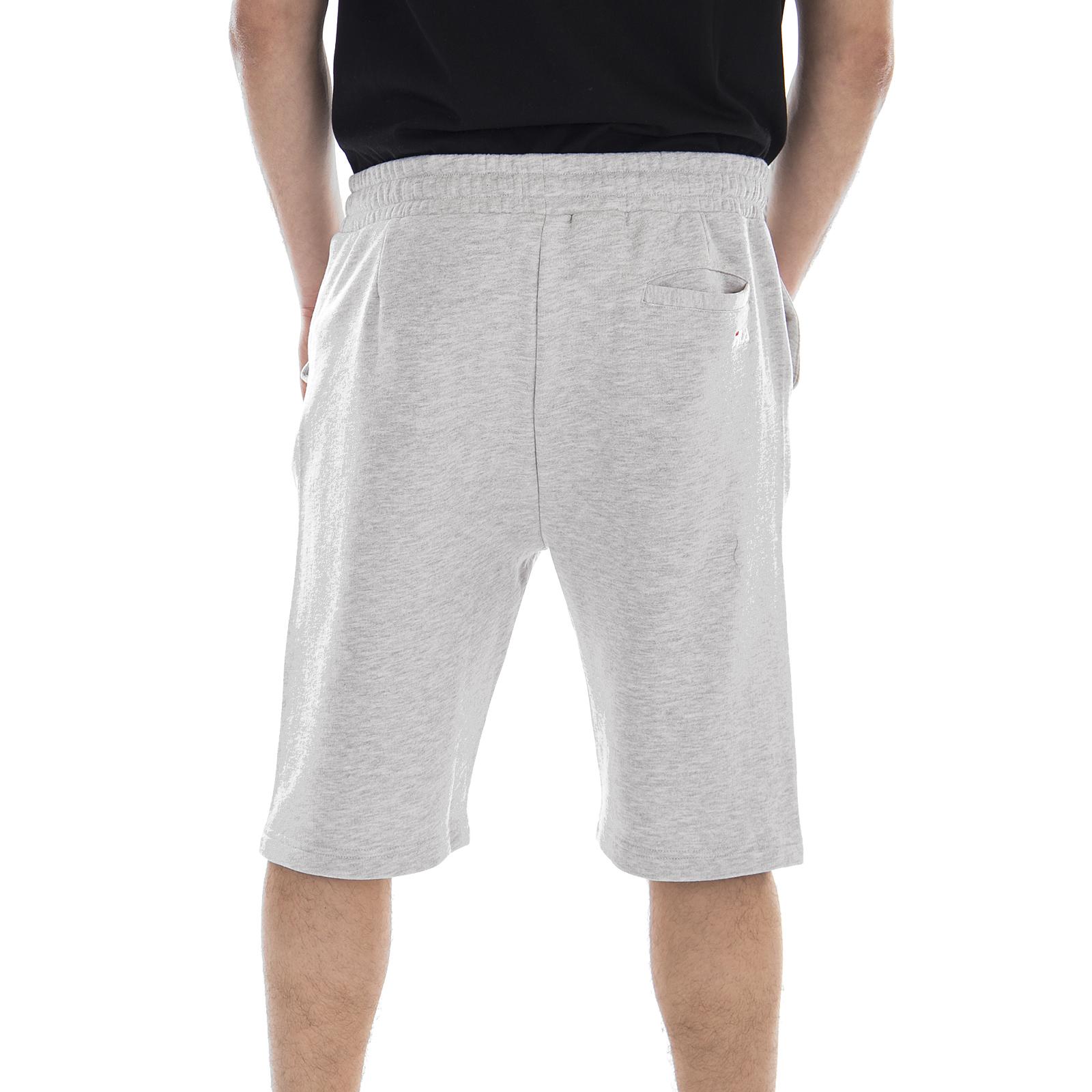 Sweat Long Melange Shorts Sweatshirts Fila Bros Cameron Lichtgrijs RAaZI1wq