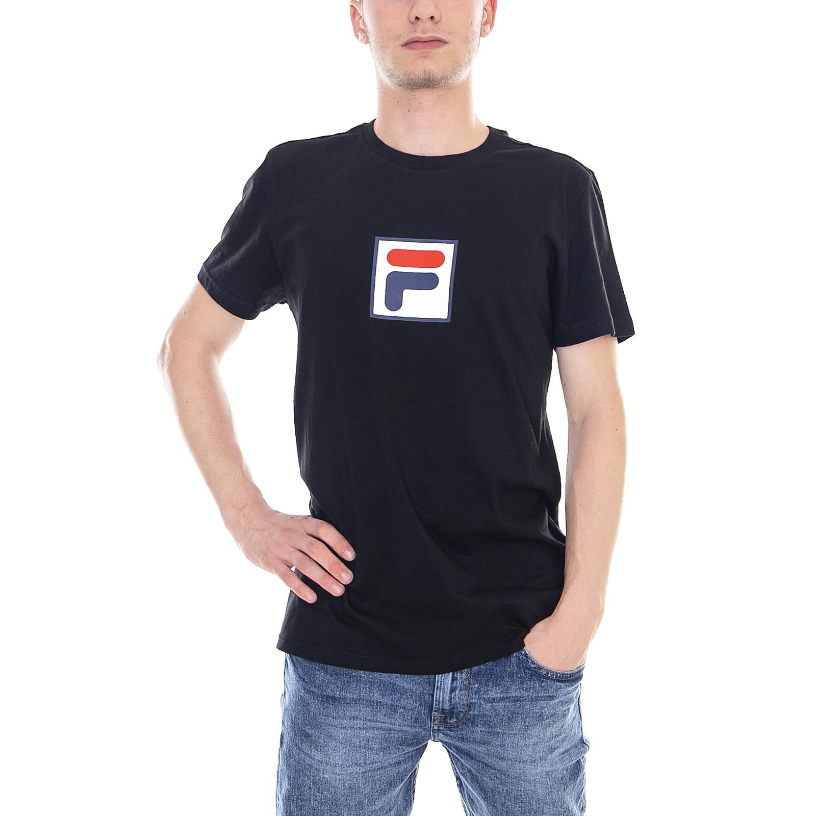 Dettagli su Fila T-Shirt Men Evan 2.0 Tee Ss Black Nero