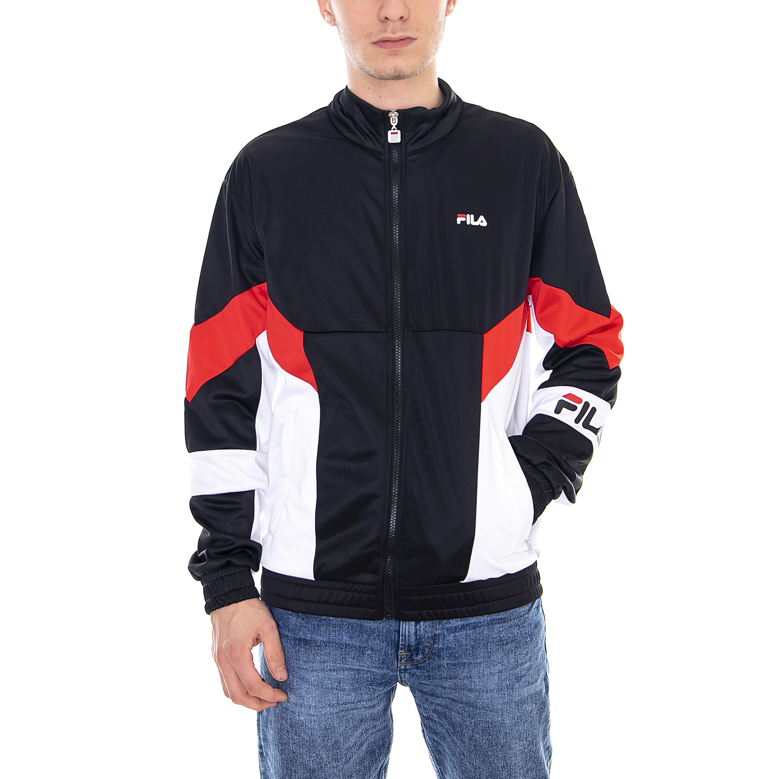 Vestes Fil Noir True Jacket Hommes White Track Red Rouge Bright Talbot PwdHqRarw
