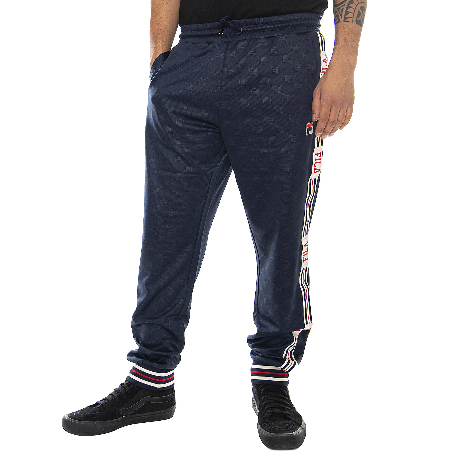 Détails sur Fila Mn Avtandie Track Haleter Black Iris Pantalon Sportifs Homme Bleu Bleu