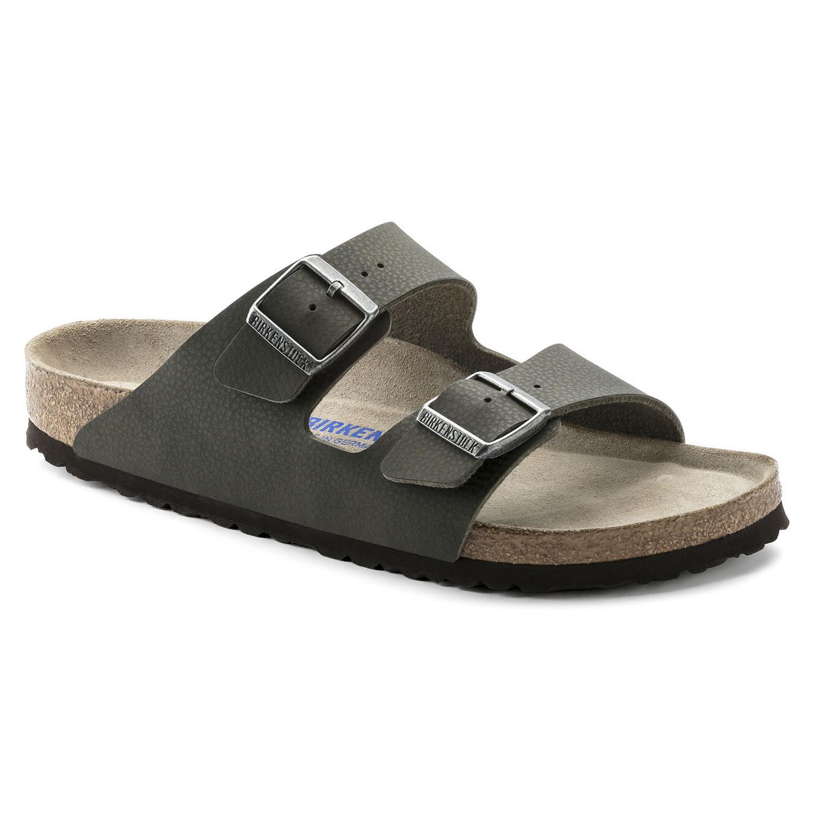 Birkenstock sandals arizona sfb desert soil birko flor green green ... c06ee558537