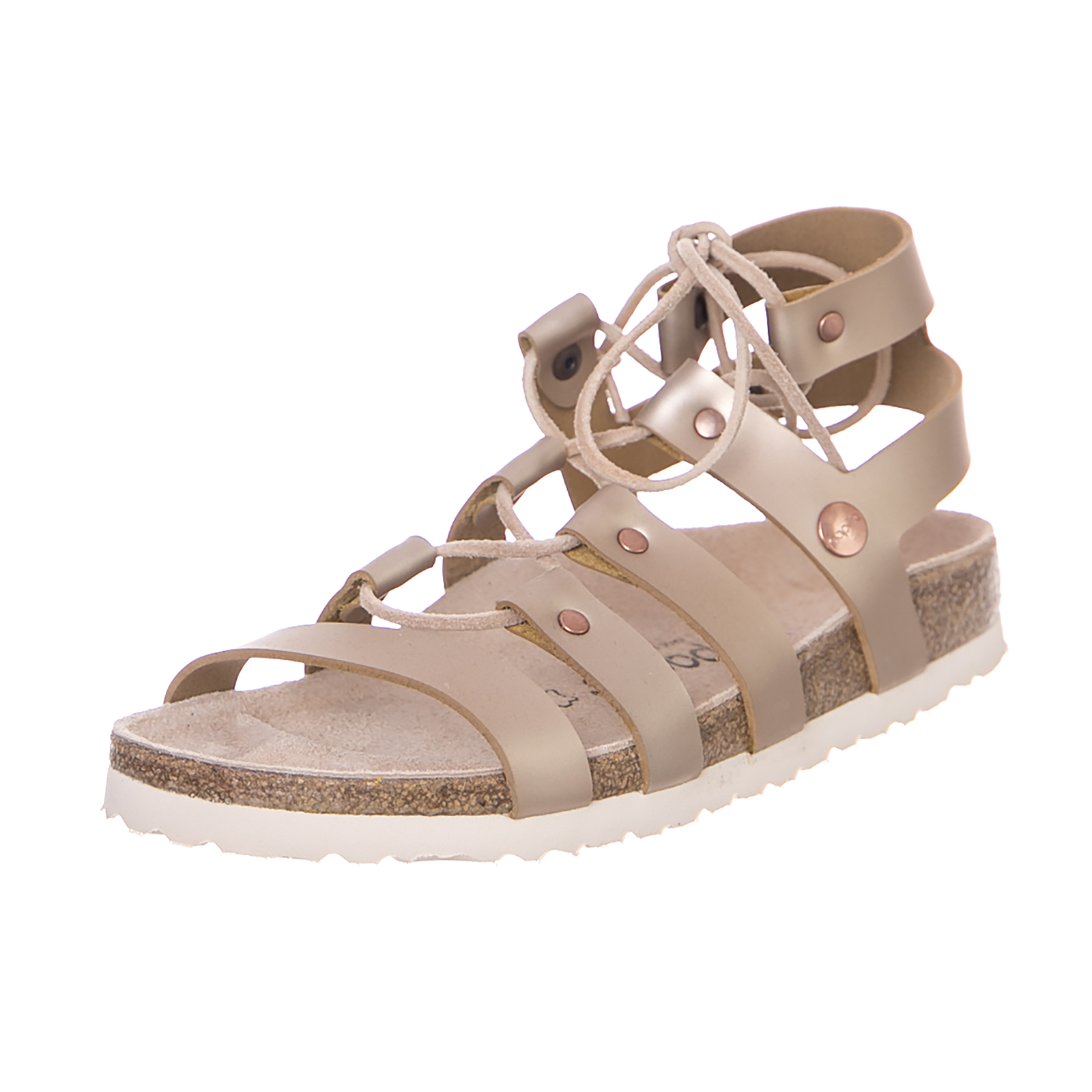 Birkenstock Sandalias Cleo Leather Rosas Frosted Metálico Rosas Leather Rosa c163c1