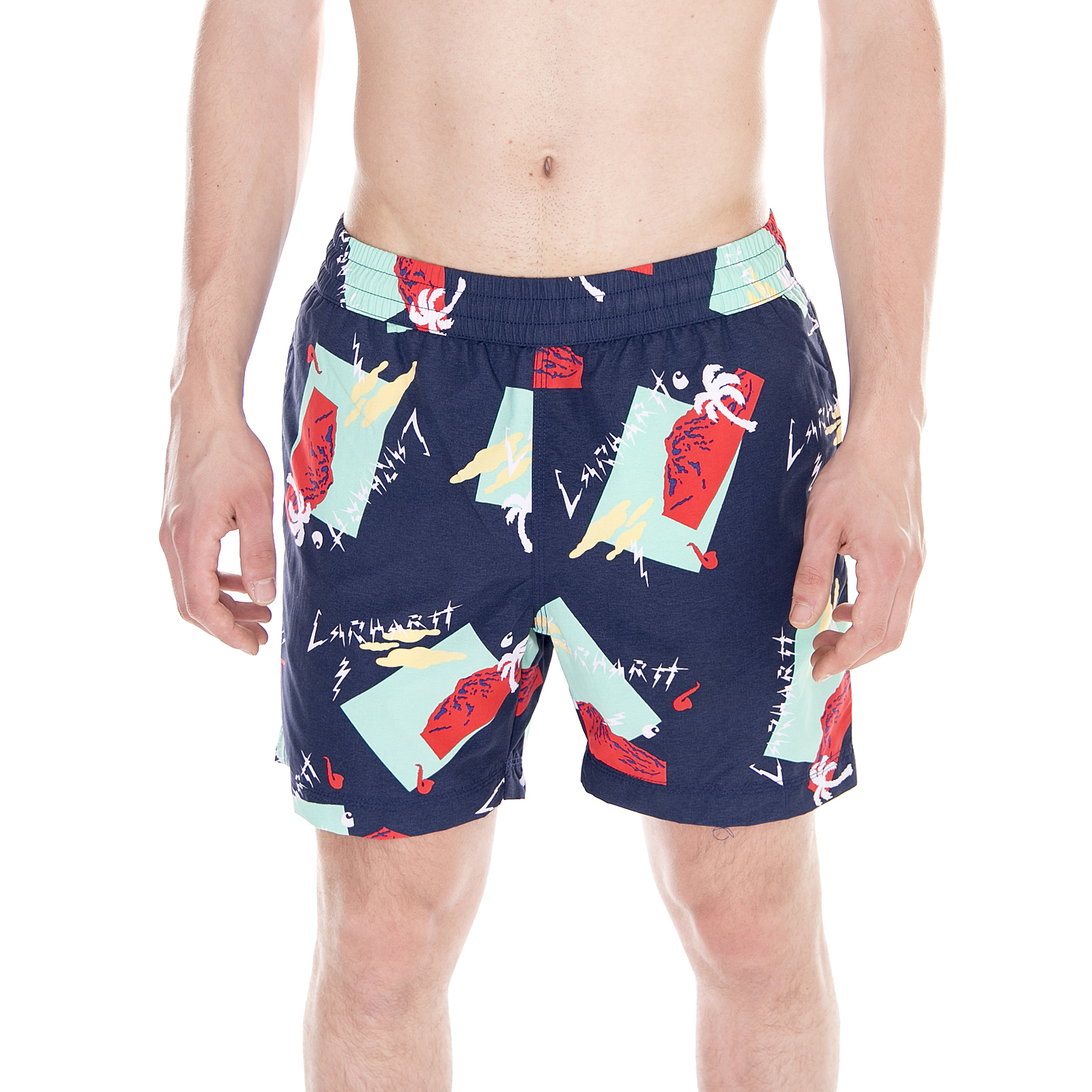 6d21ba7895 Carhartt Beachwear Drift Swim Trunk Anderson Print, Sub Blue Multicolor