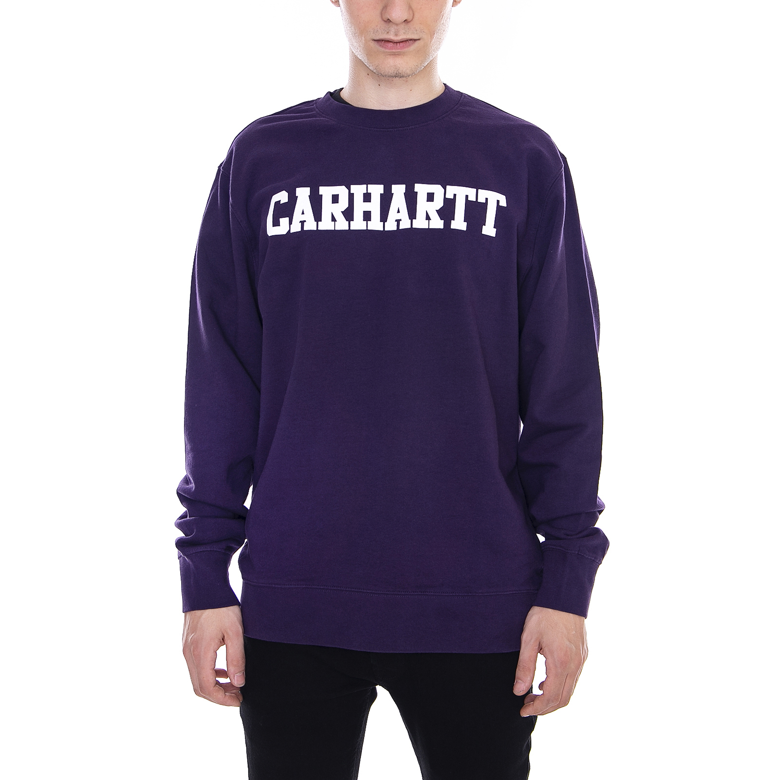 Details about Carhartt Sweatshirts College Sweatshirt Lakers / White Violet