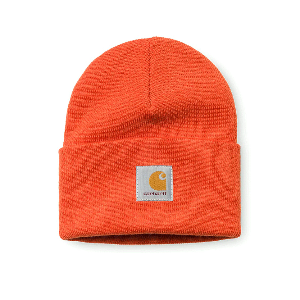 Carhartt Cappelli Acrylic Watch Hat Persimmon Orange Arancione