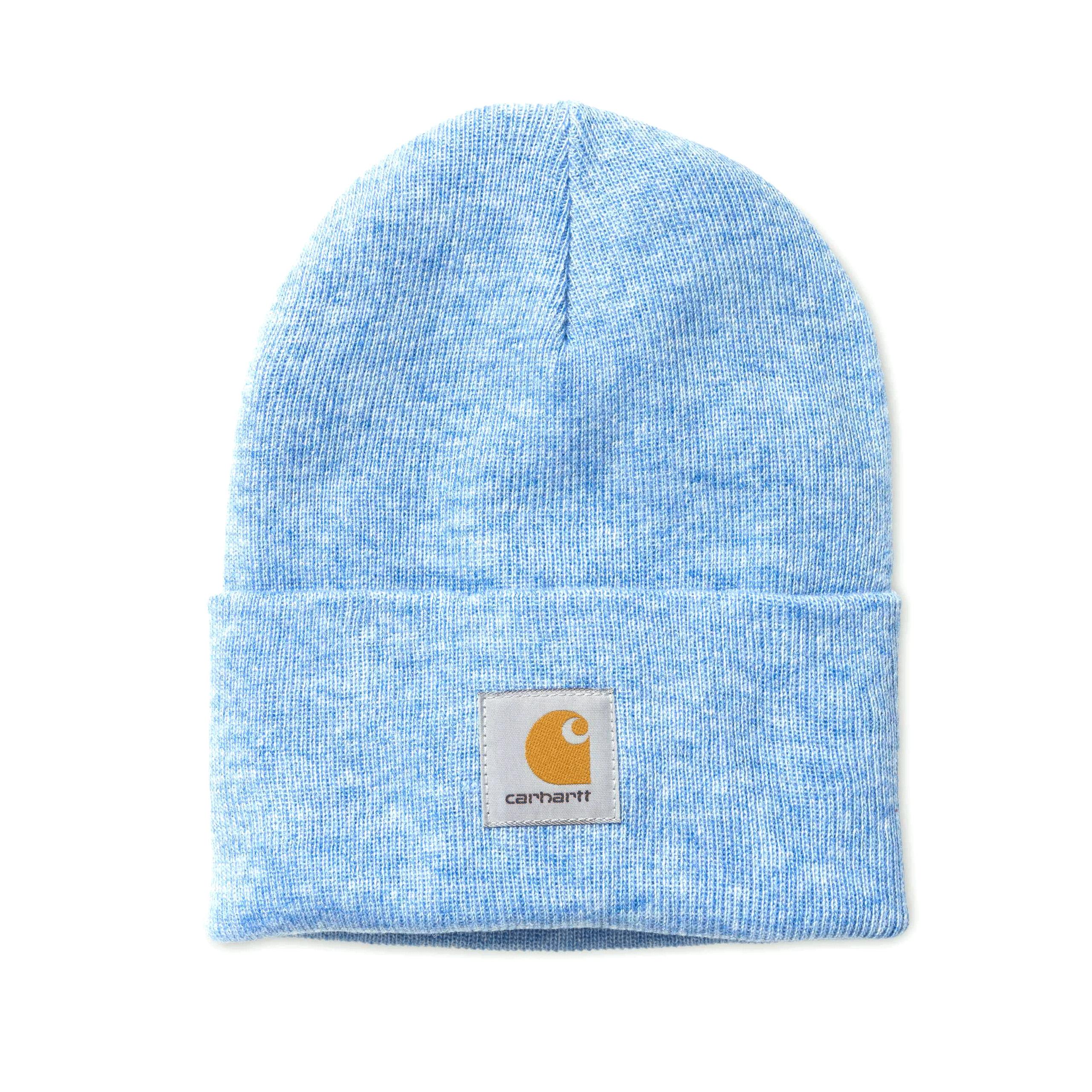 8b4e30937a5 Carhartt WIP Knitted Cap Light Blue Mottled Watch Hat Beanie Heaven ...