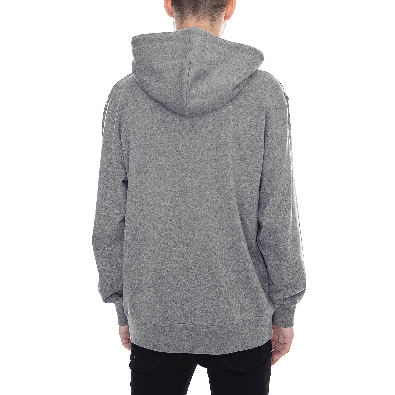 Carhartt Sweatshirt mit mit mit Kapuze College Schweiß Dark Heather grau weiß grau 8b8c6a