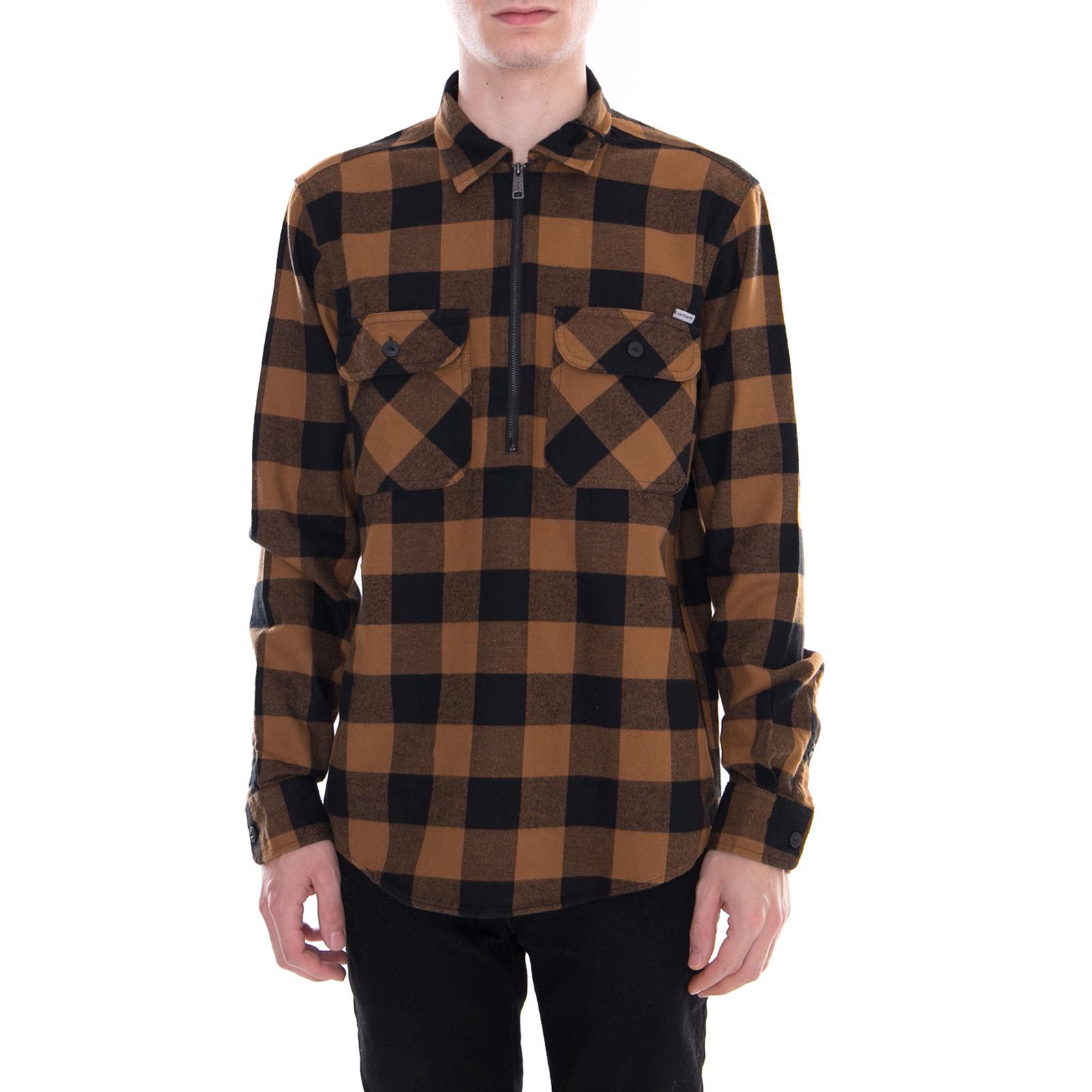 Camicia nero Camicia Marrone Hamilton Brown Check Carhartt Francis PrqwaP