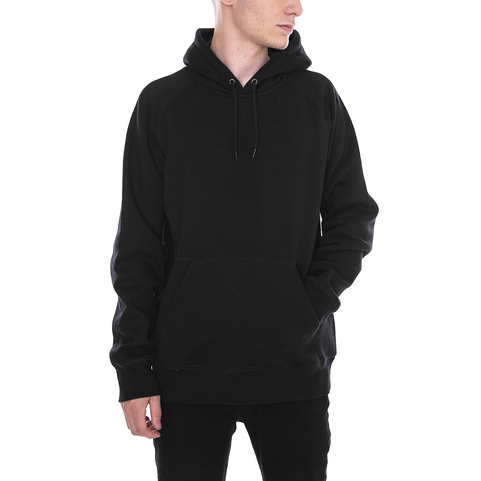 Carhartt Felpe Hooded Chase Sweatshirt Black / Gold Nero