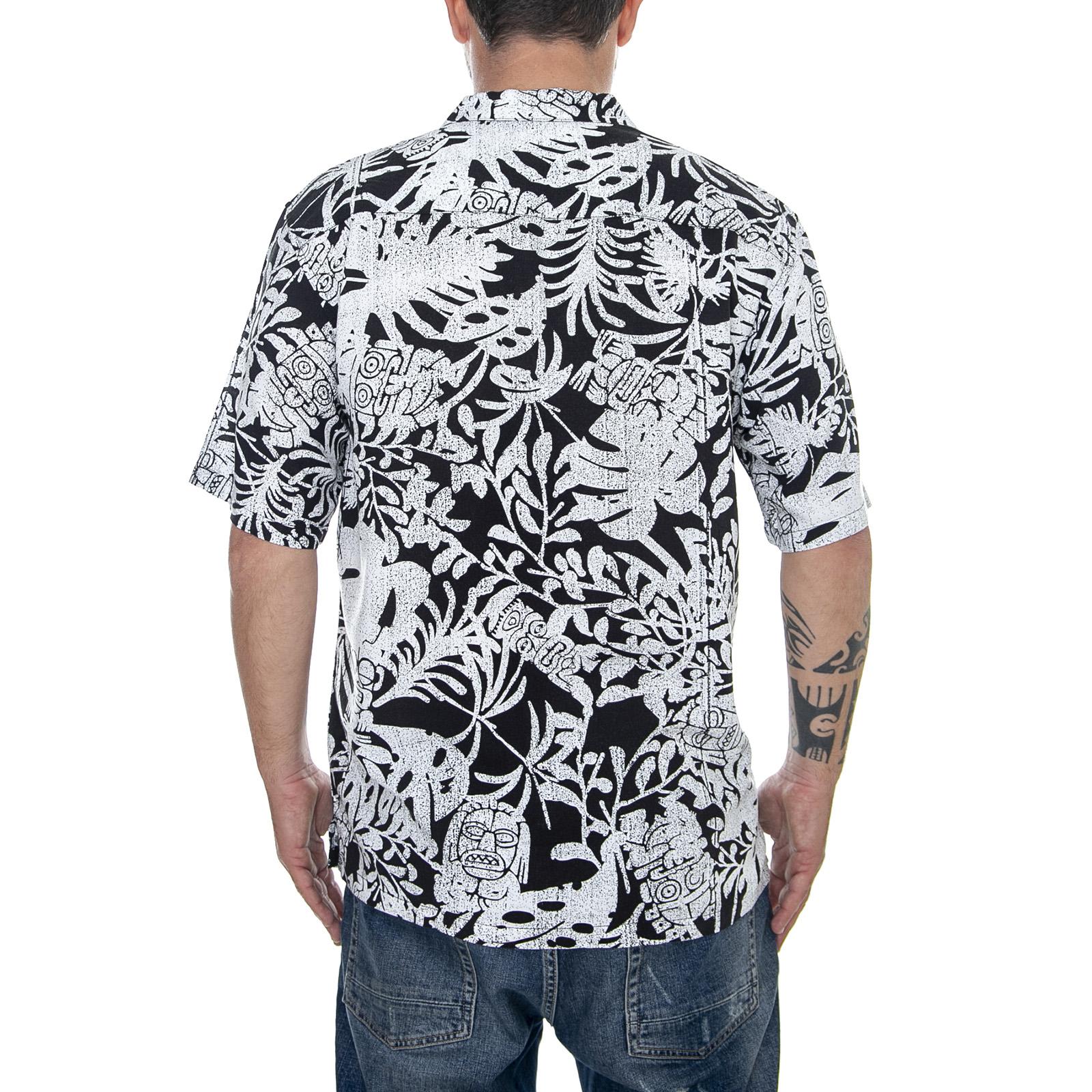 1e4f5580c5a1 Carhartt Tiki Mono - Black/White - Camicia Maniche Corte Uomo ...