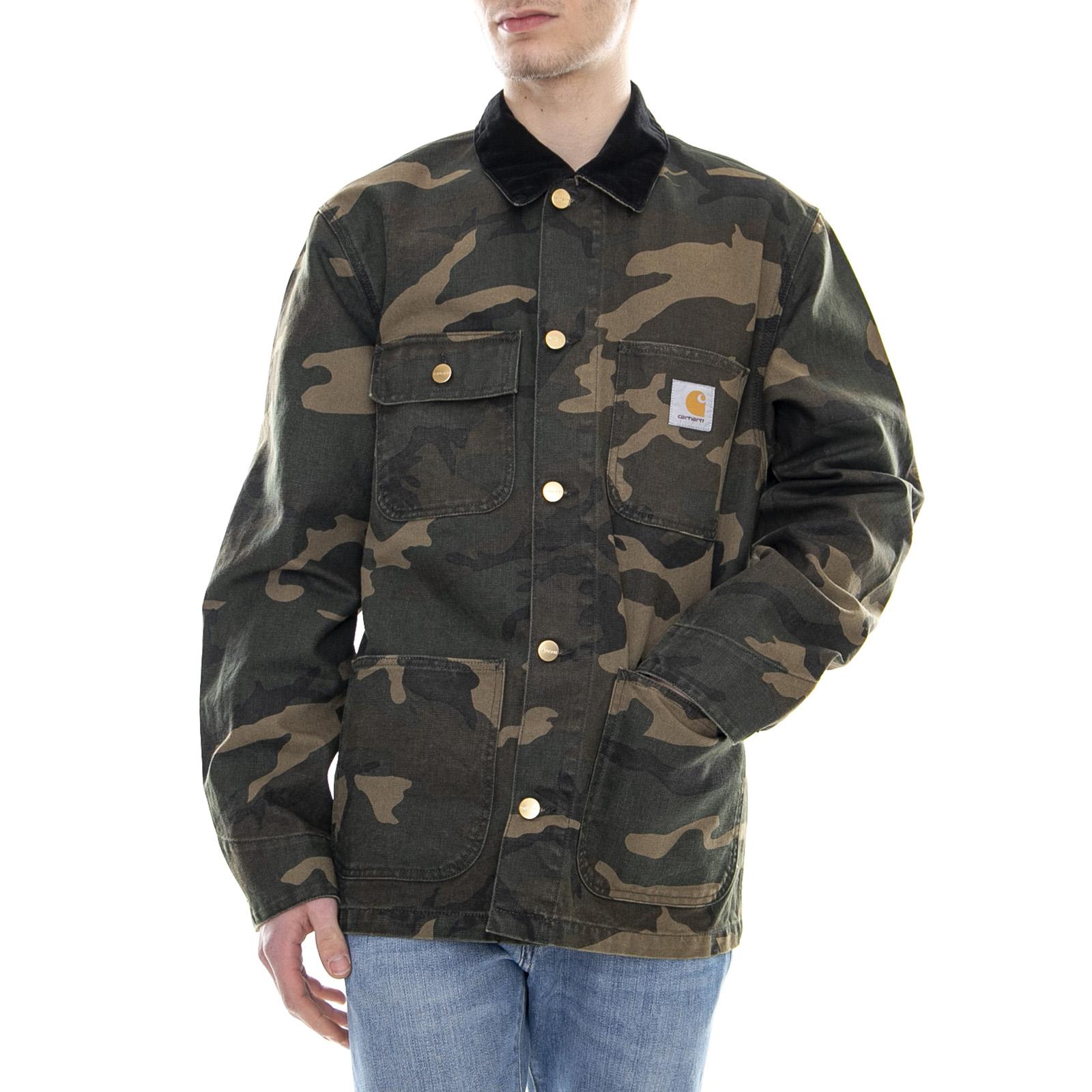 b8158a6935651 Carhartt Michigan Coat Rinsed Camo Laurel - Jacket Light Men's Camo ...