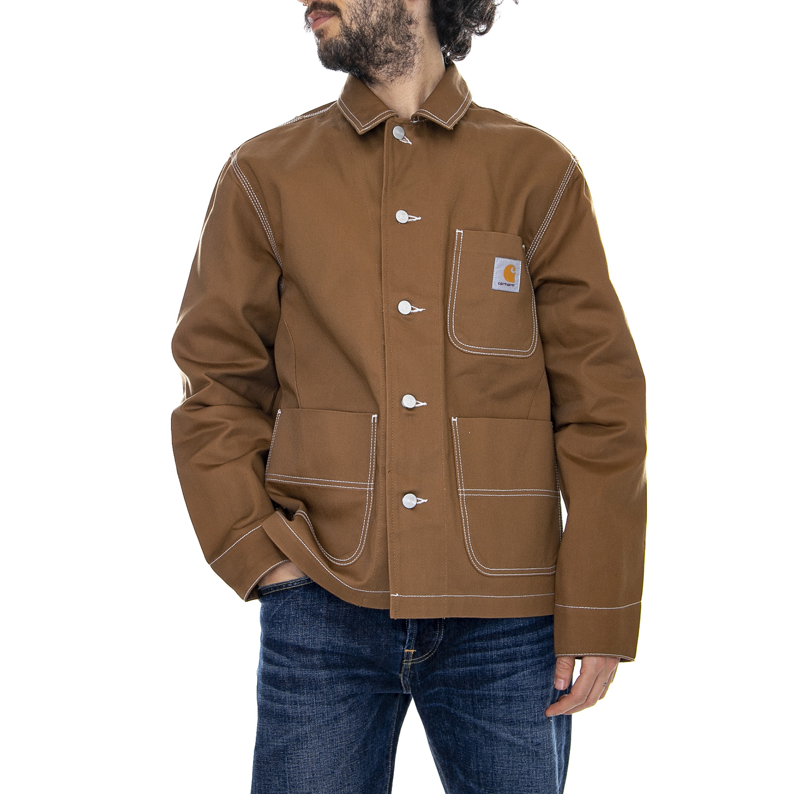 good professional sale best website Details about Carhartt Chalk Jacket Rigid - Hamilton Brown - Jacket Light  Man Brown