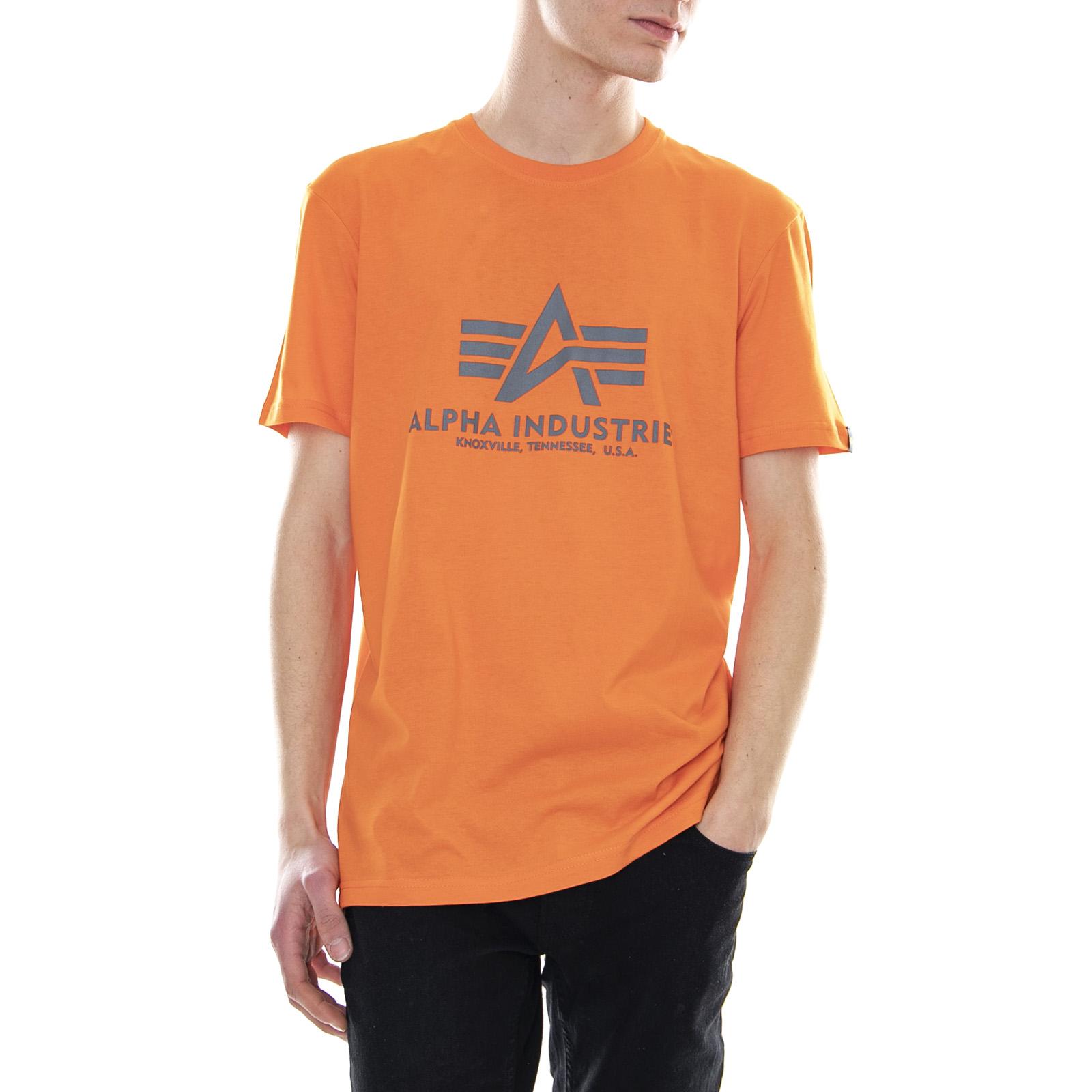 100% najwyższej jakości kupić sklep Details about Alpha Industries Basic Tee Flame Orange - Men's T-shirt Orange