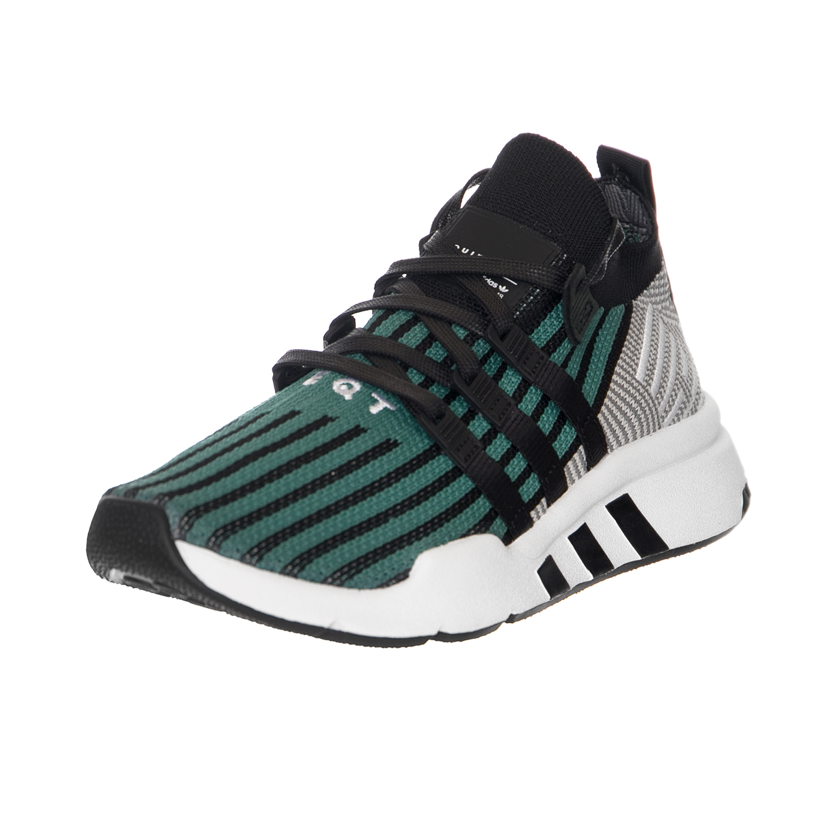 Adidas Baskets Eqt Support Mid Adv Noir / Noir / Vert Nero