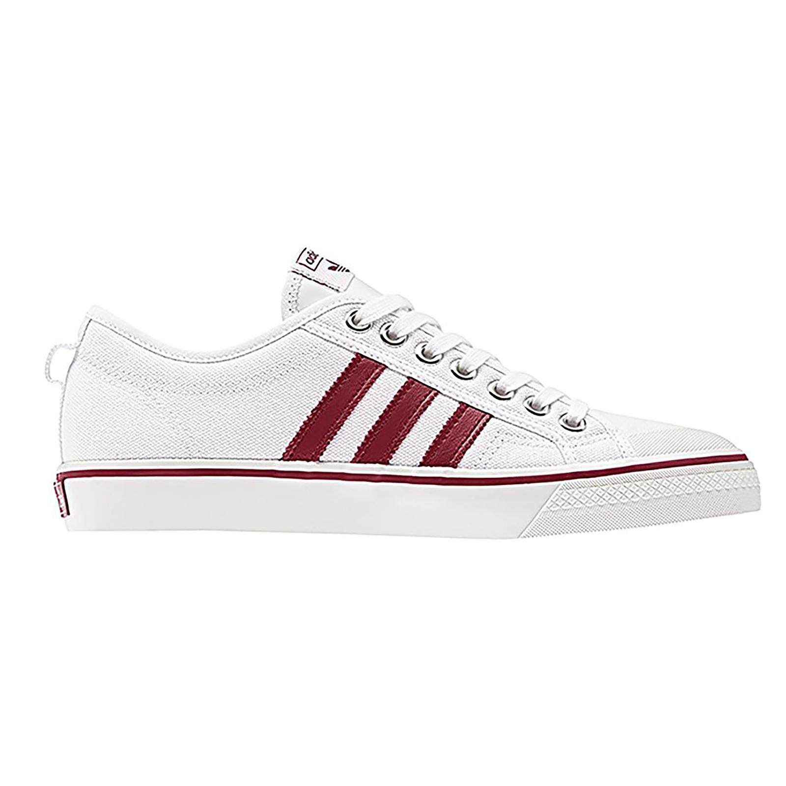 Adidas Burgundy Sneakers Nizza Blanco / Burgundy Adidas Bianco 60f613