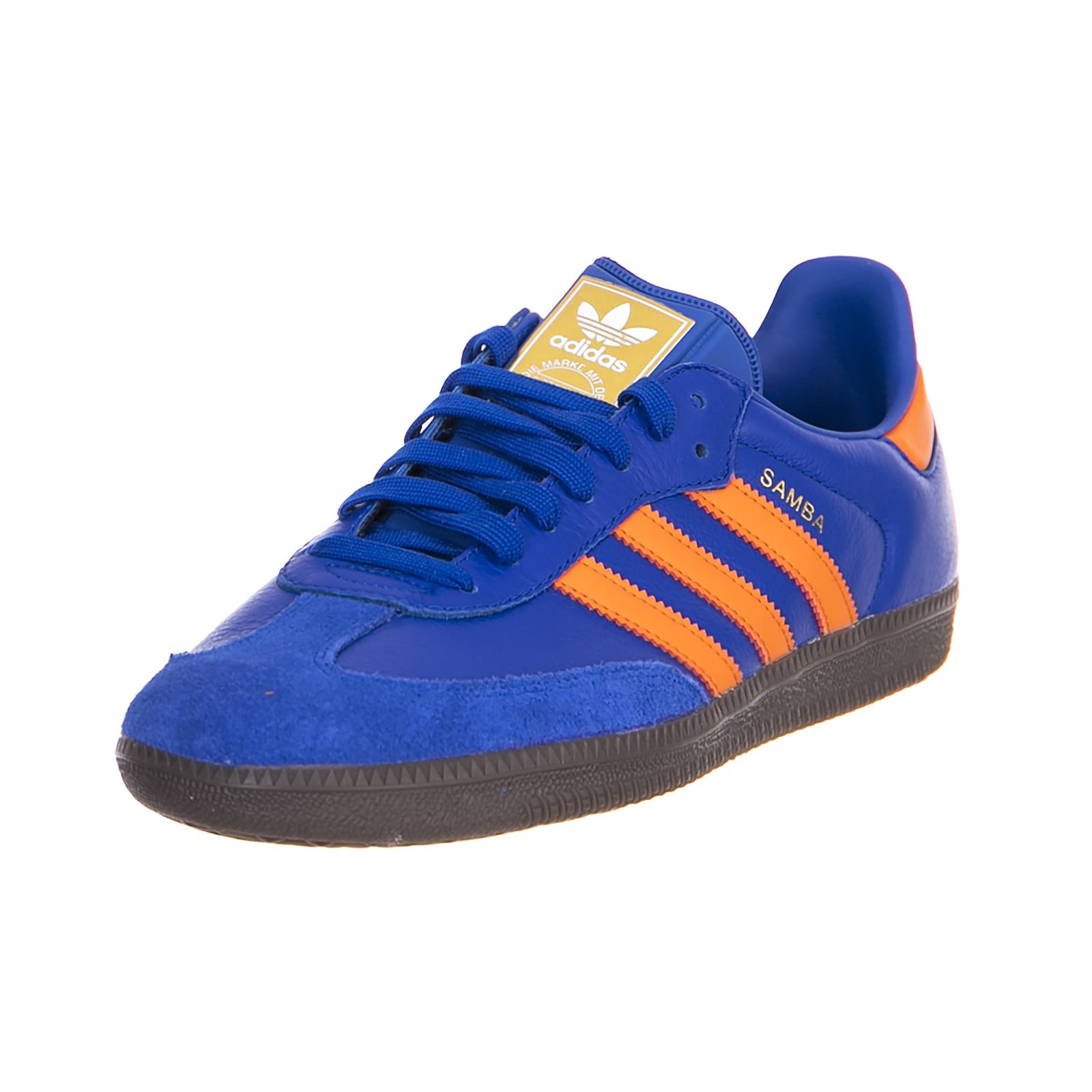 Adidas Sneakers Samba Blue Orange Blue Scarpe classiche da uomo