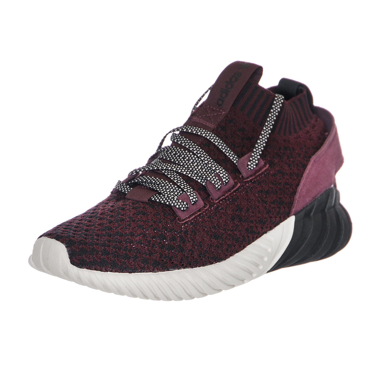 quality design 01fda 5d19e Image is loading Adidas-Tubular-Doom-Sock-P-Cblack-Maroon-C-