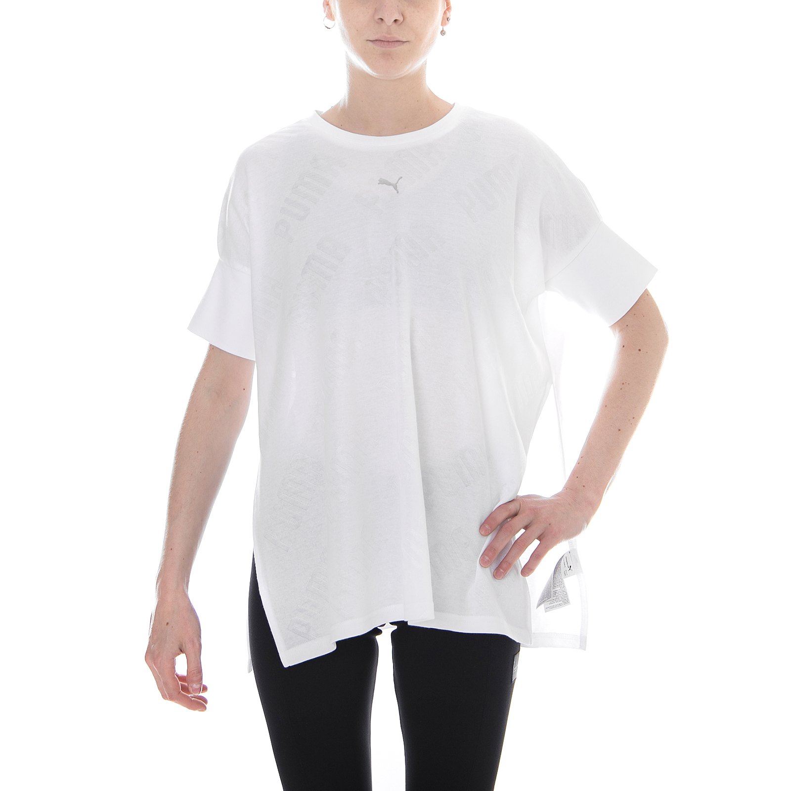 aec396eec810ca PUMA En Pointe Wide Women s T-shirt White 40 for sale online