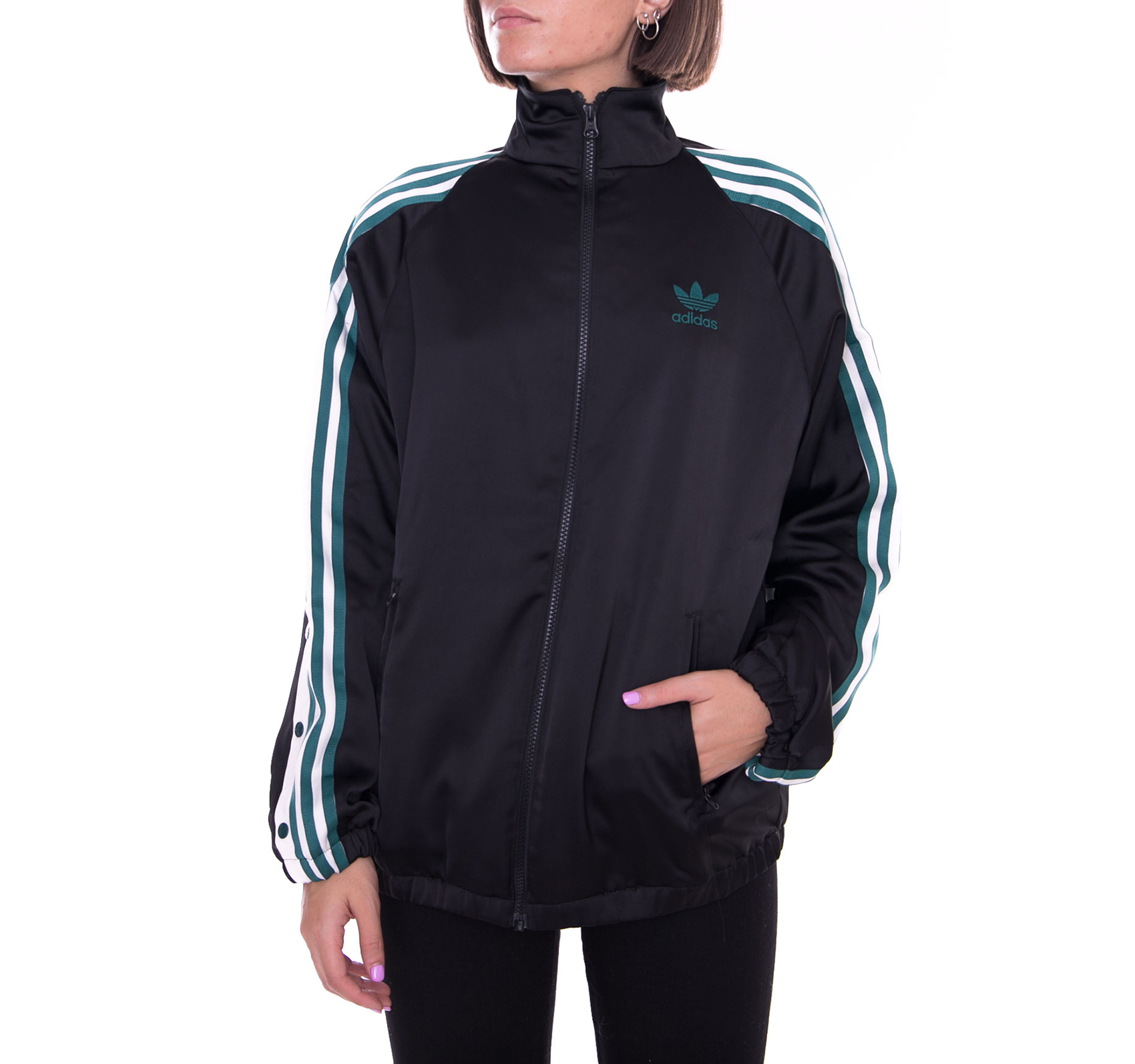 686befbb Adidas Jacket Track Top Satin Black Black | eBay