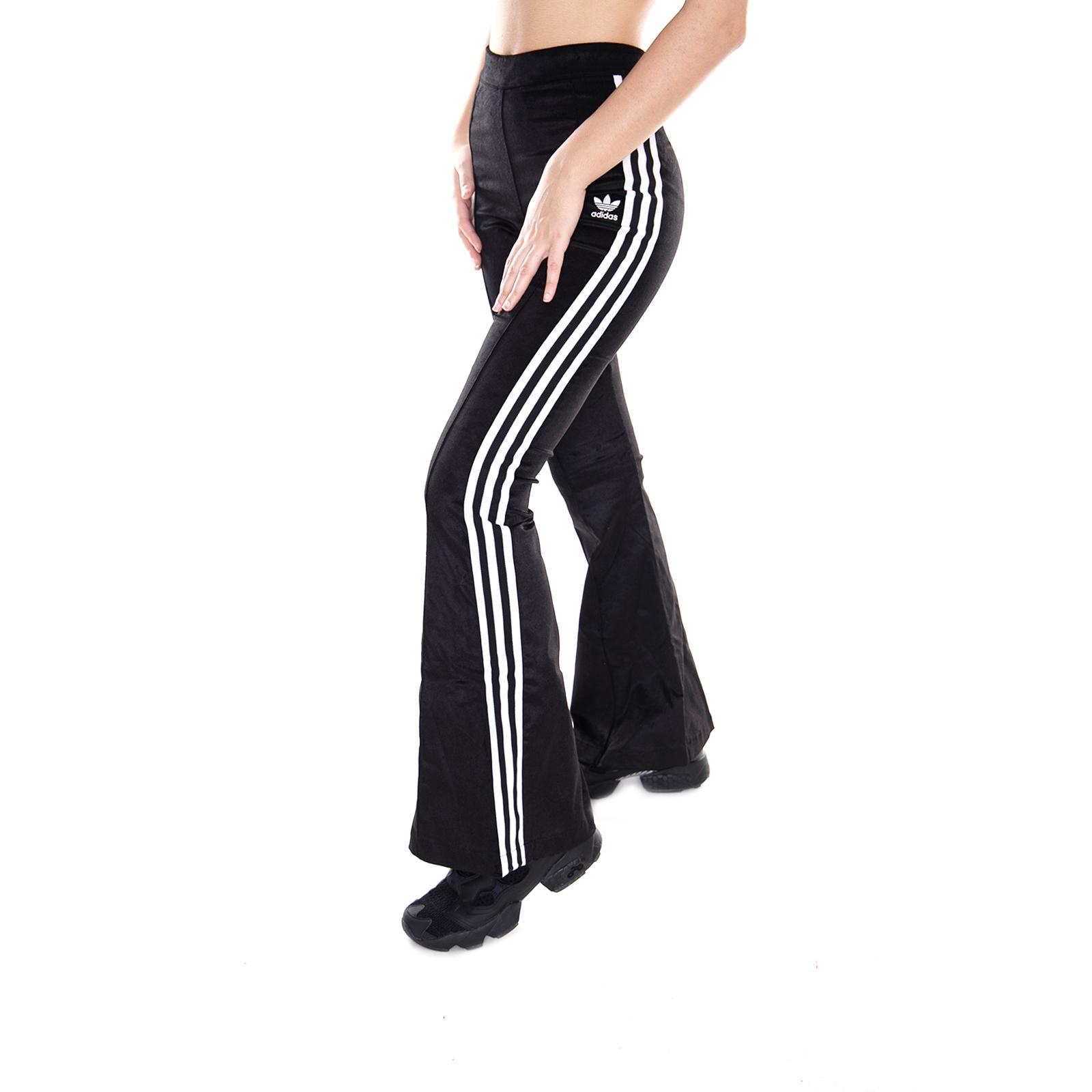 Negro Adidas Pantalones Detalles De Acampanado Black Tp PZkXOiu