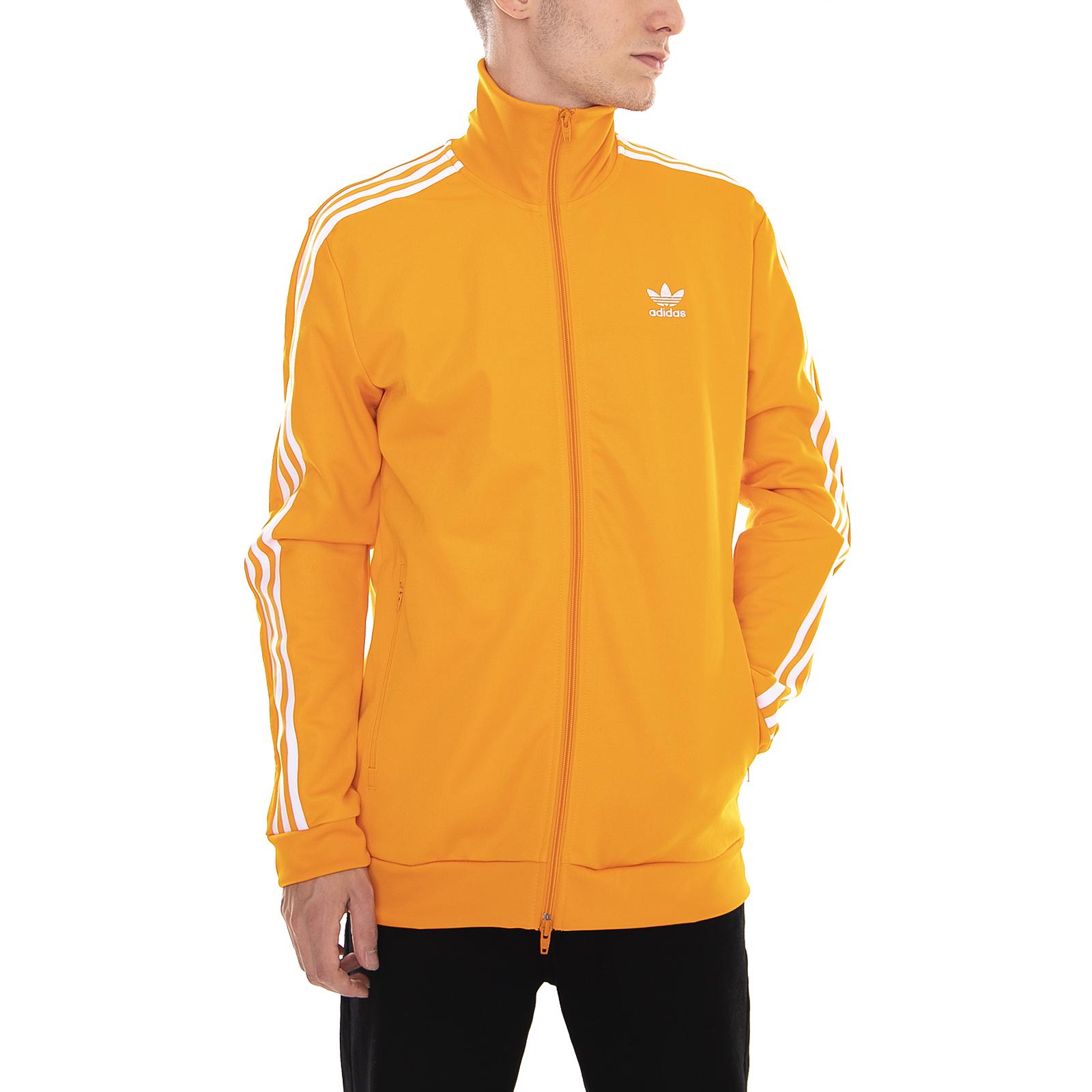 Dettagli su Adidas Felpe Beckenbauer Tt Orange Arancione