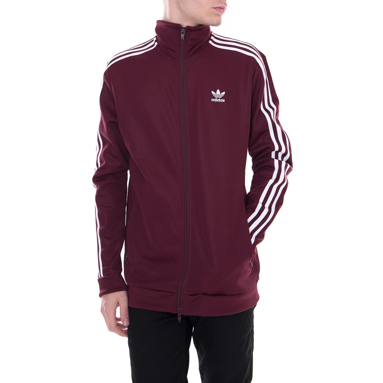 Maroon Bordeaux Ebay Adidas Giacche Beckenbauer REpxwTq