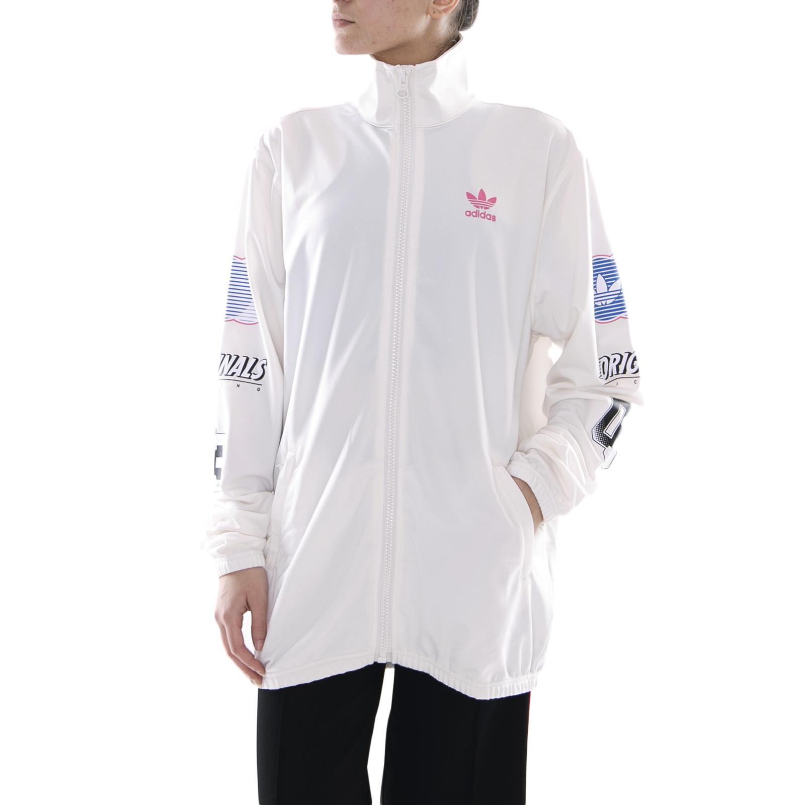 1b1cd75357c0 Adidas giacche track jacket chalk white bianco