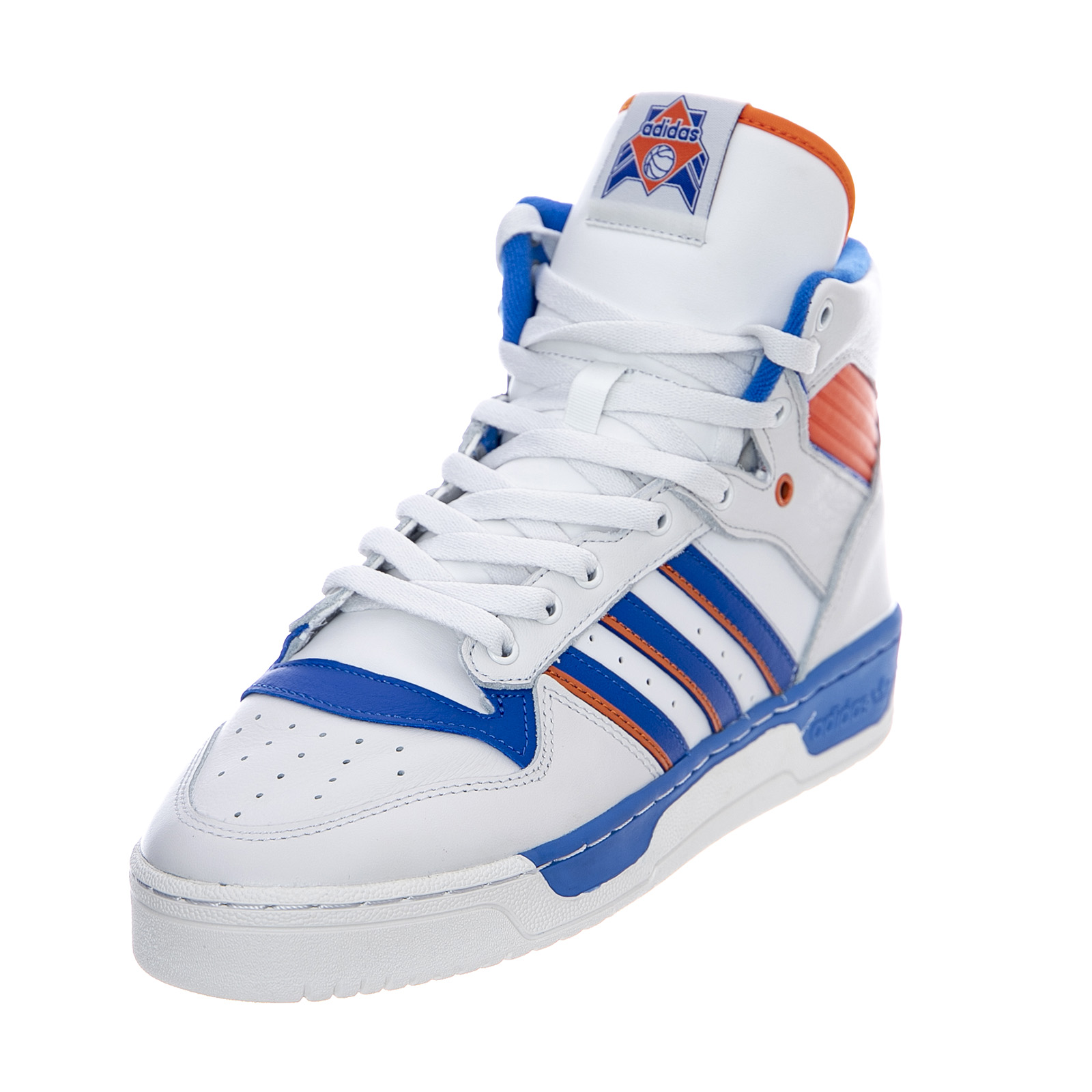 23595df0fb Adidas Rivalry - White/Blue/Orange - Sneakers Alte Uomo Multicolor ...