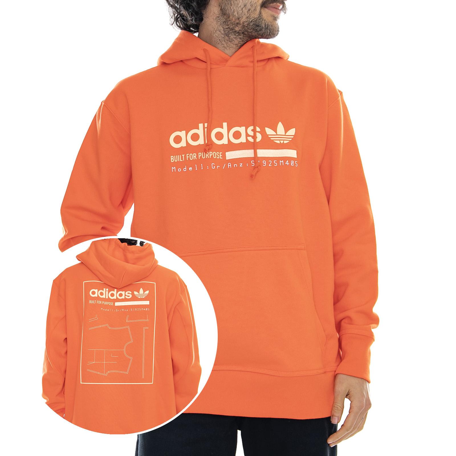 felpa adidas uomo arancione