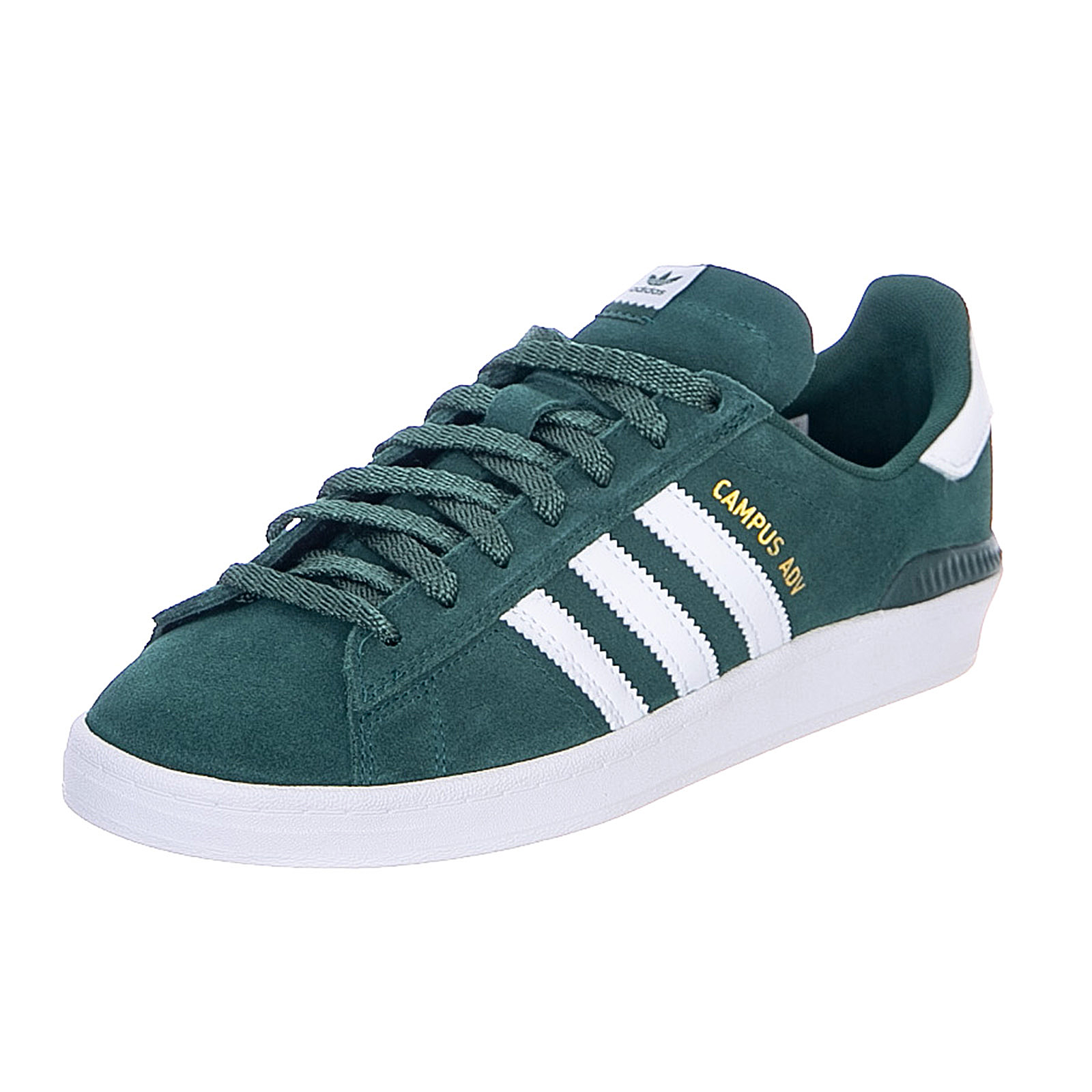 Details about Adidas Campus Adv Collegiate Green / Cloud White/Gold  Metallic Sneakers Mens