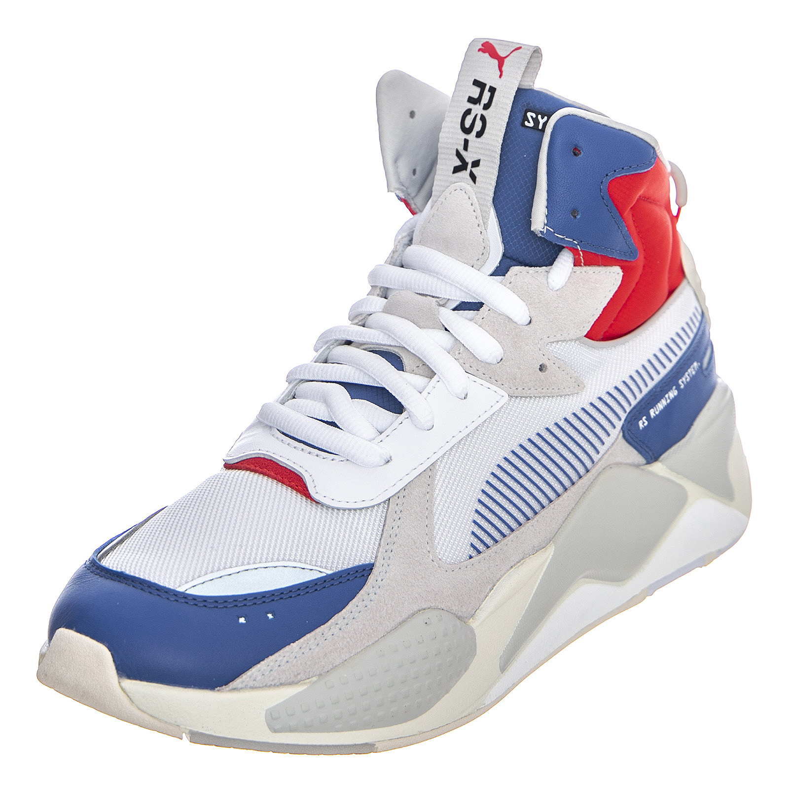 Details about Puma Rs X Midtop Utility Trainers Galaxy BluePuma White Shoes High Man
