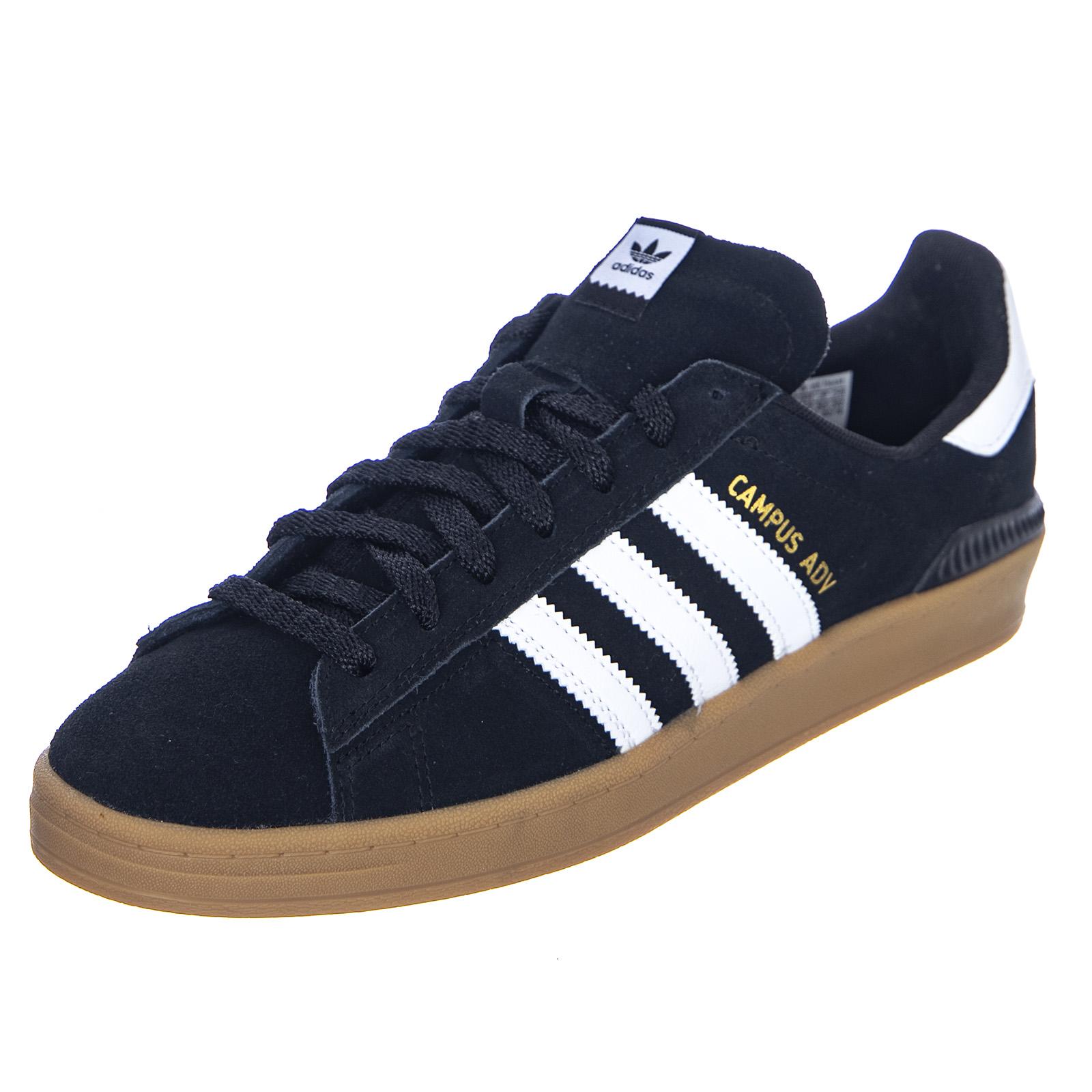 Dettagli su Adidas Campus Adv Core BlackWhiteGum4 Sneakers Basse Uomo Nero